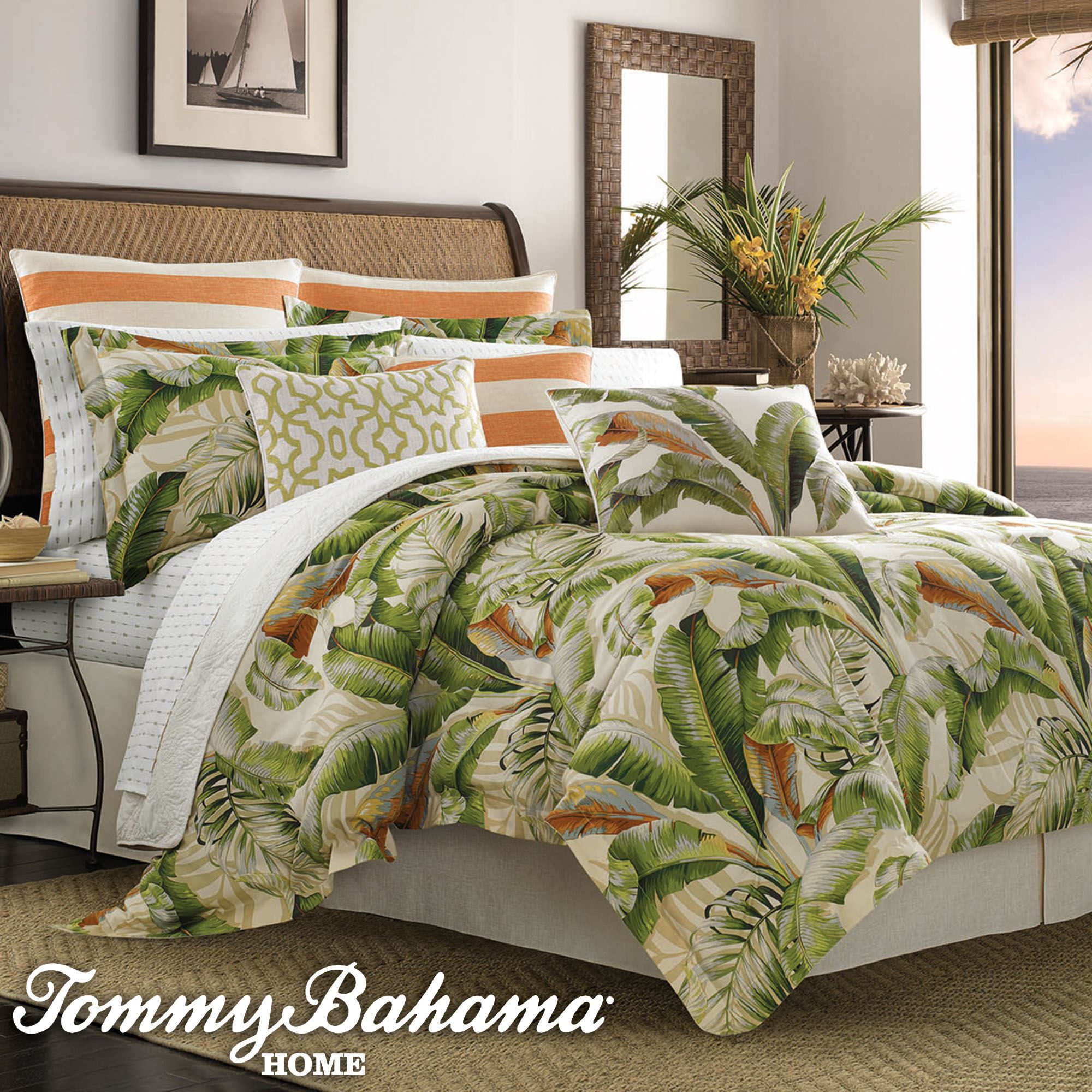 Palmiers Tropical Comforter Bedding By Tommy Bahama