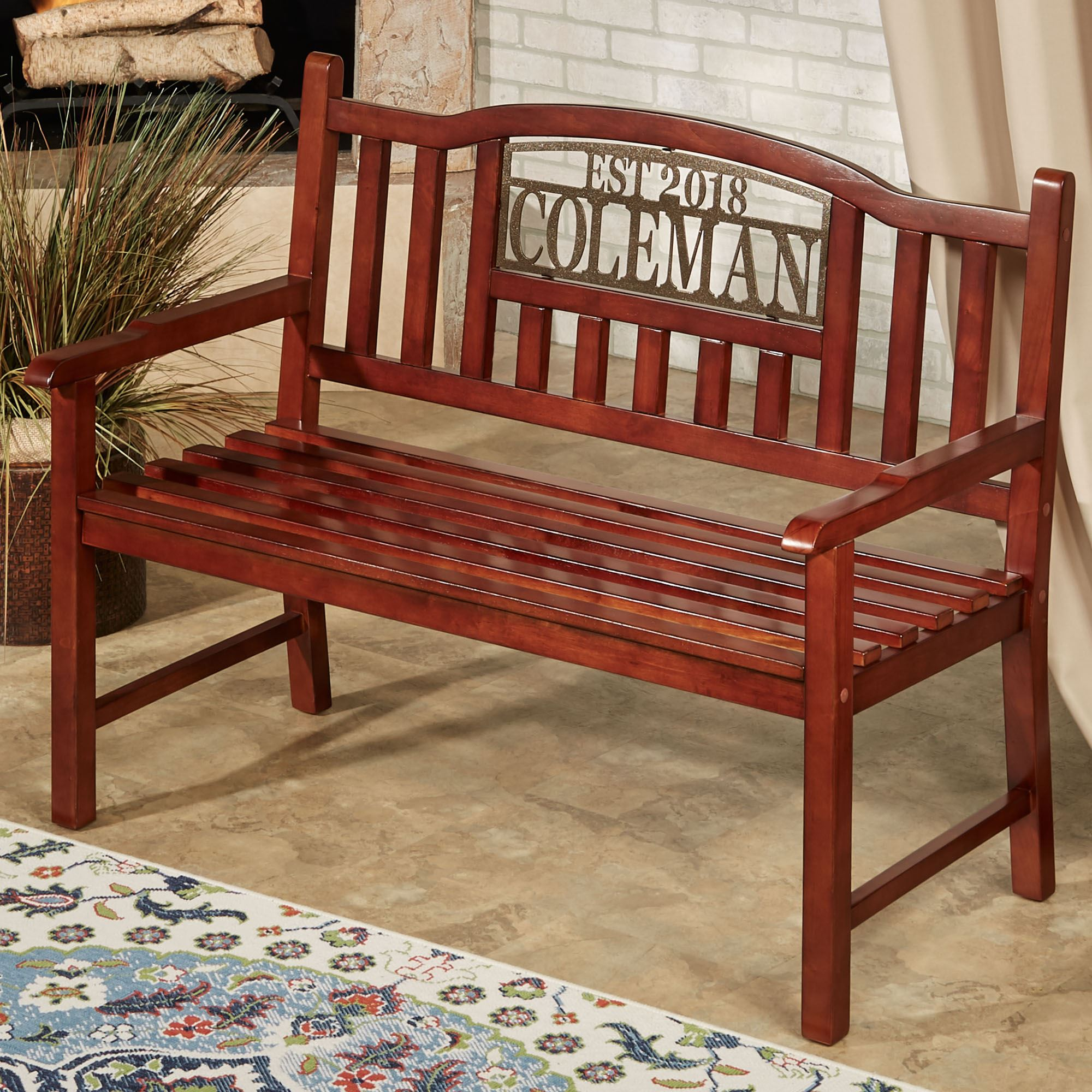 Terrific Stonehill Personalized Outdoor Bench Machost Co Dining Chair Design Ideas Machostcouk