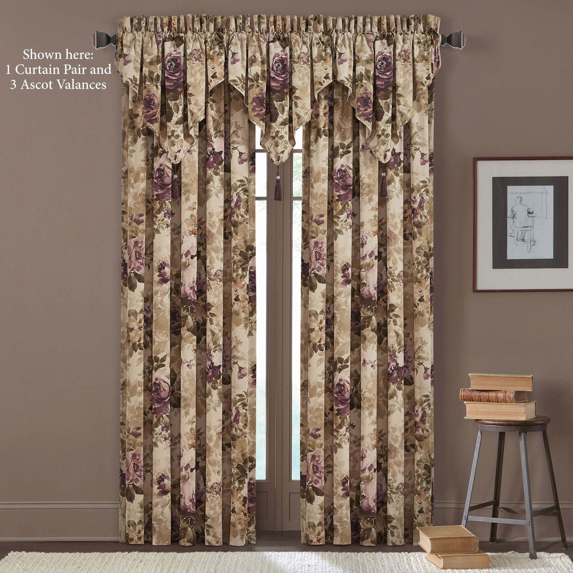 Floral Grace Window Treatment By J Queen New York