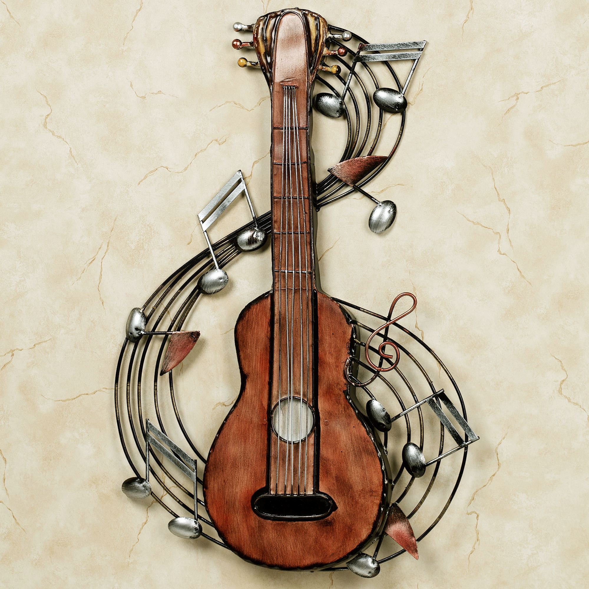 Gentil Kithara Guitar Metal Wall Art. Kithara Metal Wall Sculpture. Click To Expand