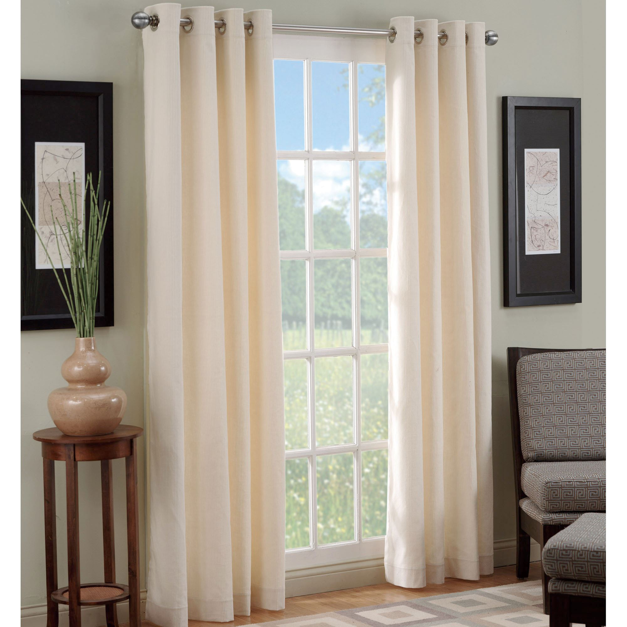 Manchester Corduroy Grommet Window Treatment