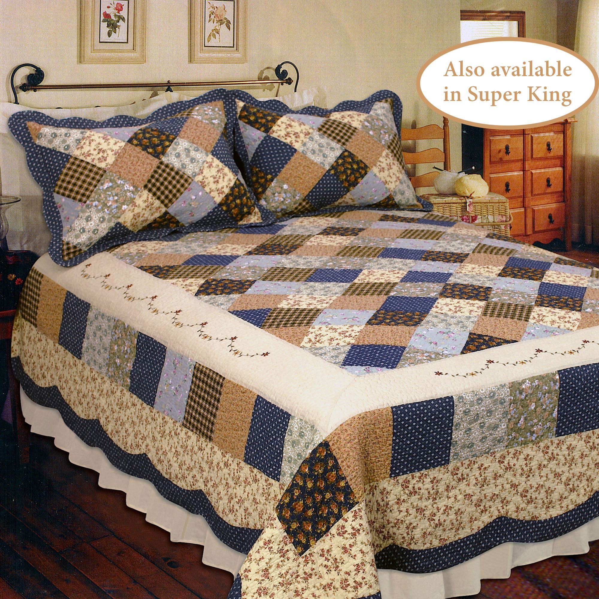 Williamsburg Dream Cotton Patchwork Quilt Bedding : williamsburg quilts - Adamdwight.com