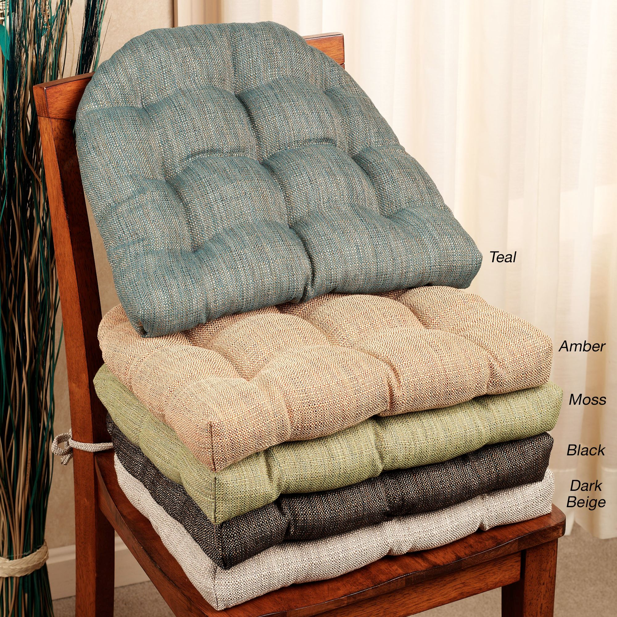 How To Make Dining Room Chair Cushions: Handsome Reversible Chair Cushion Set