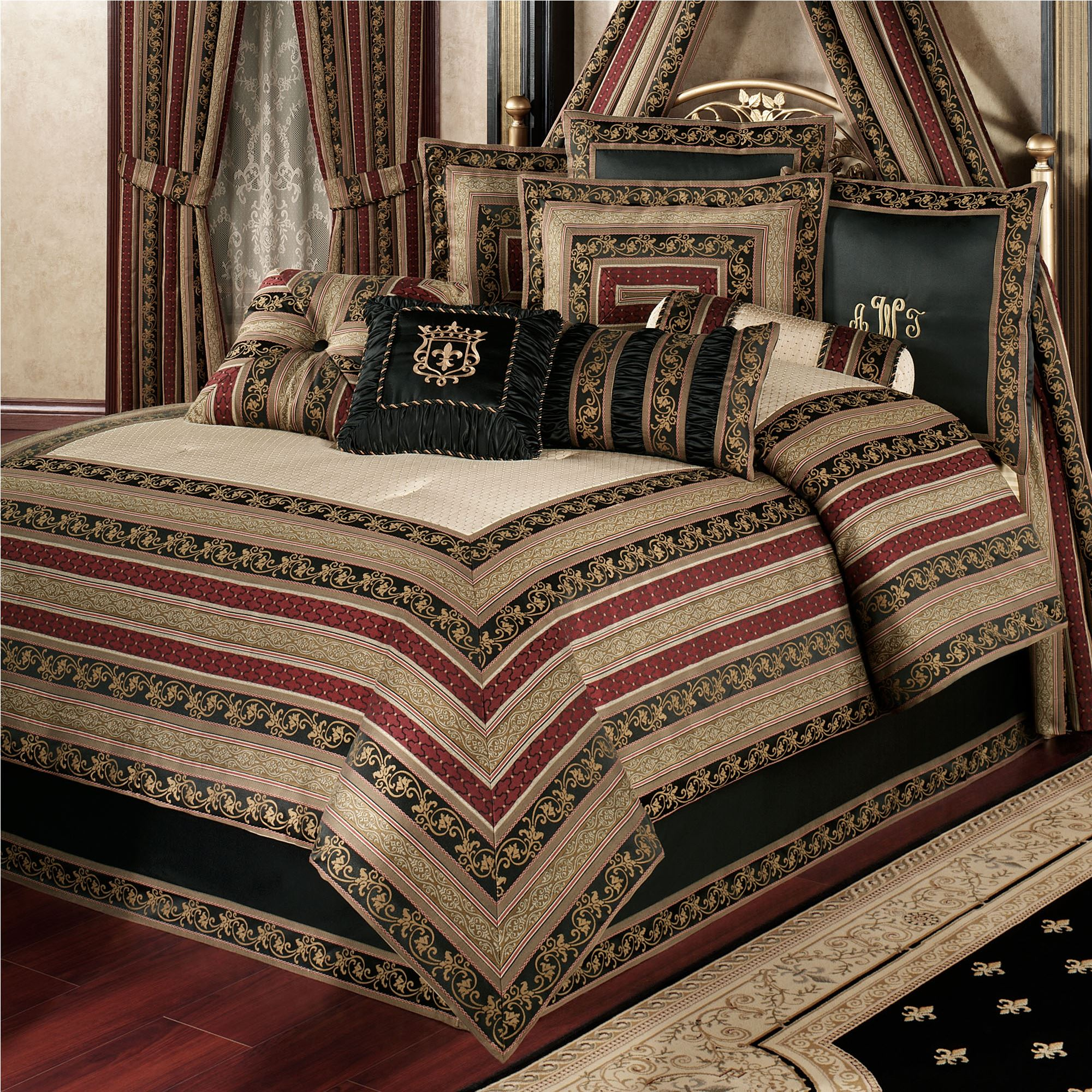 Triomphe old world style comforter bedding for Old world style beds