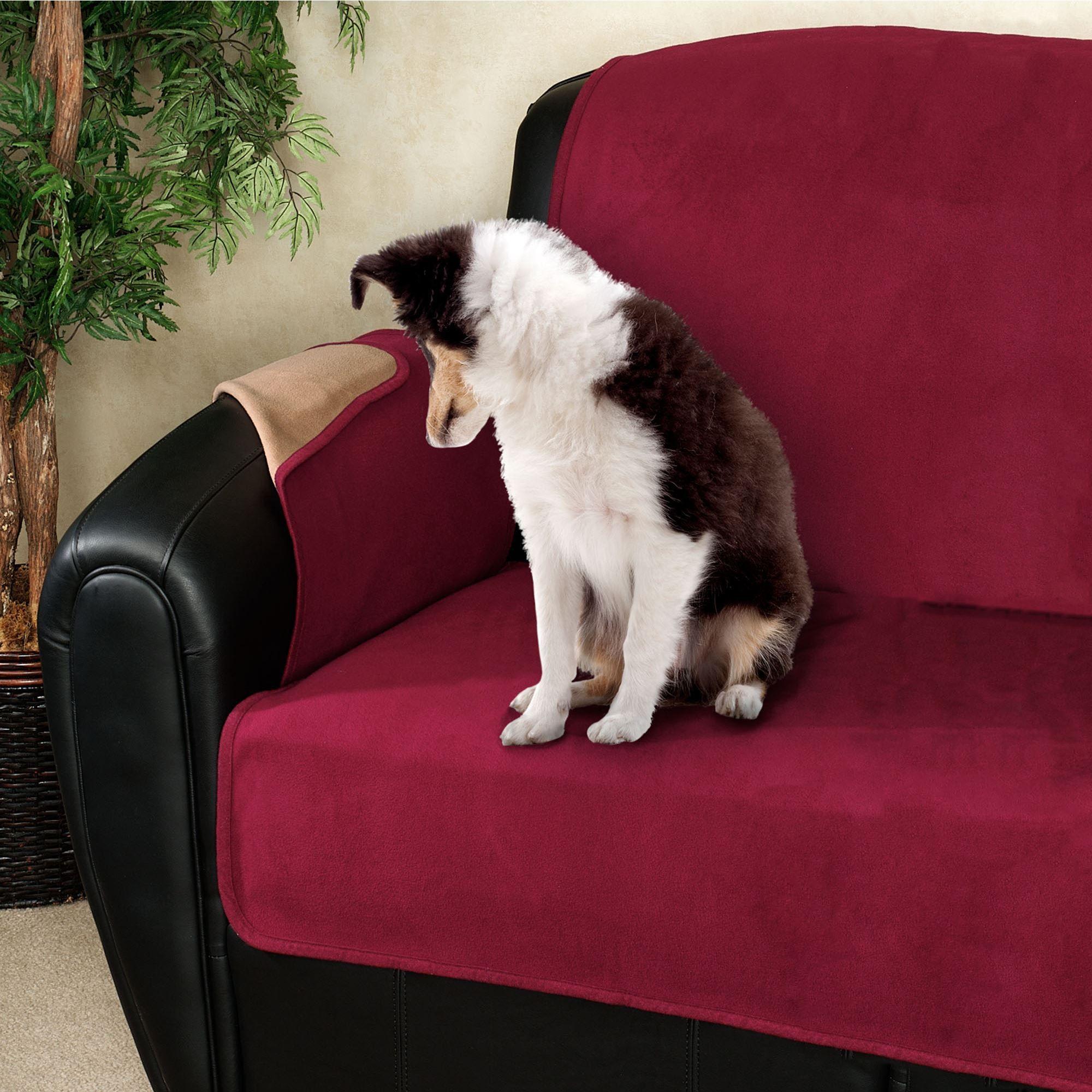 Exceptional Fleece Reversible Pet Sofa Cover Sofa
