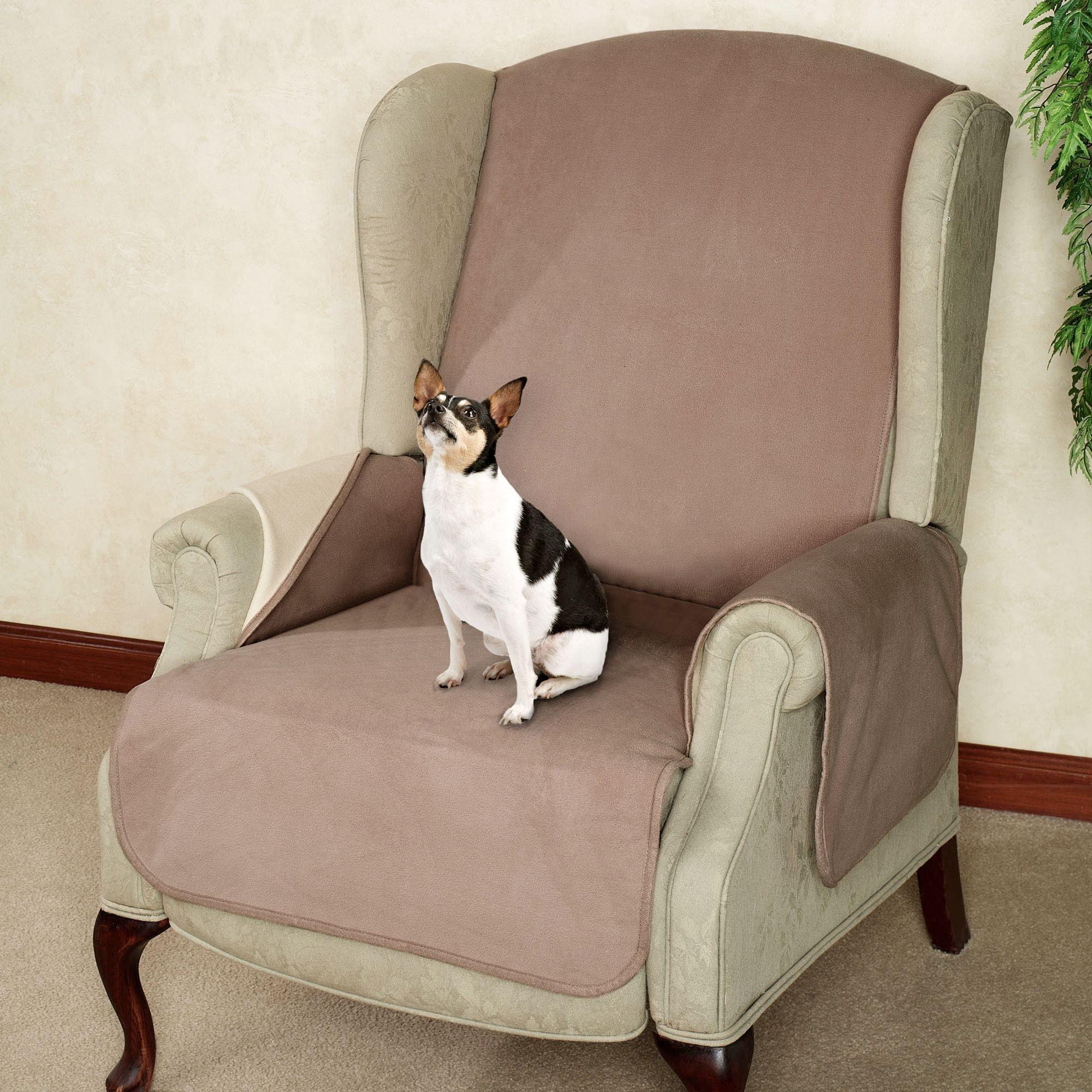 Fleece Reversible Pet Recliner/Wing Chair Cover