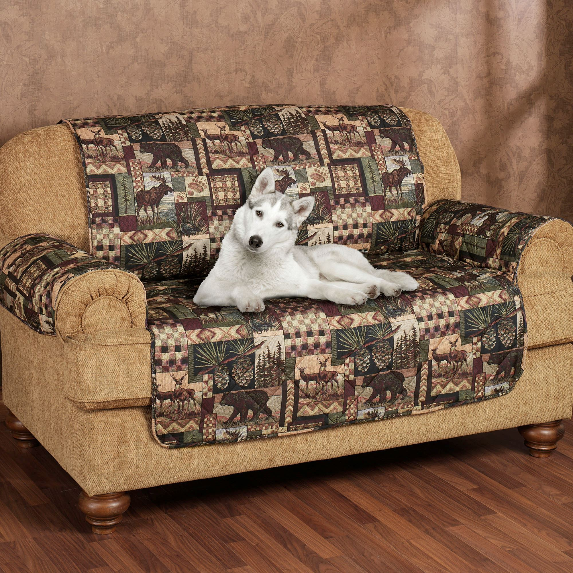 Lodge Pet Sofa Cover Multi Warm