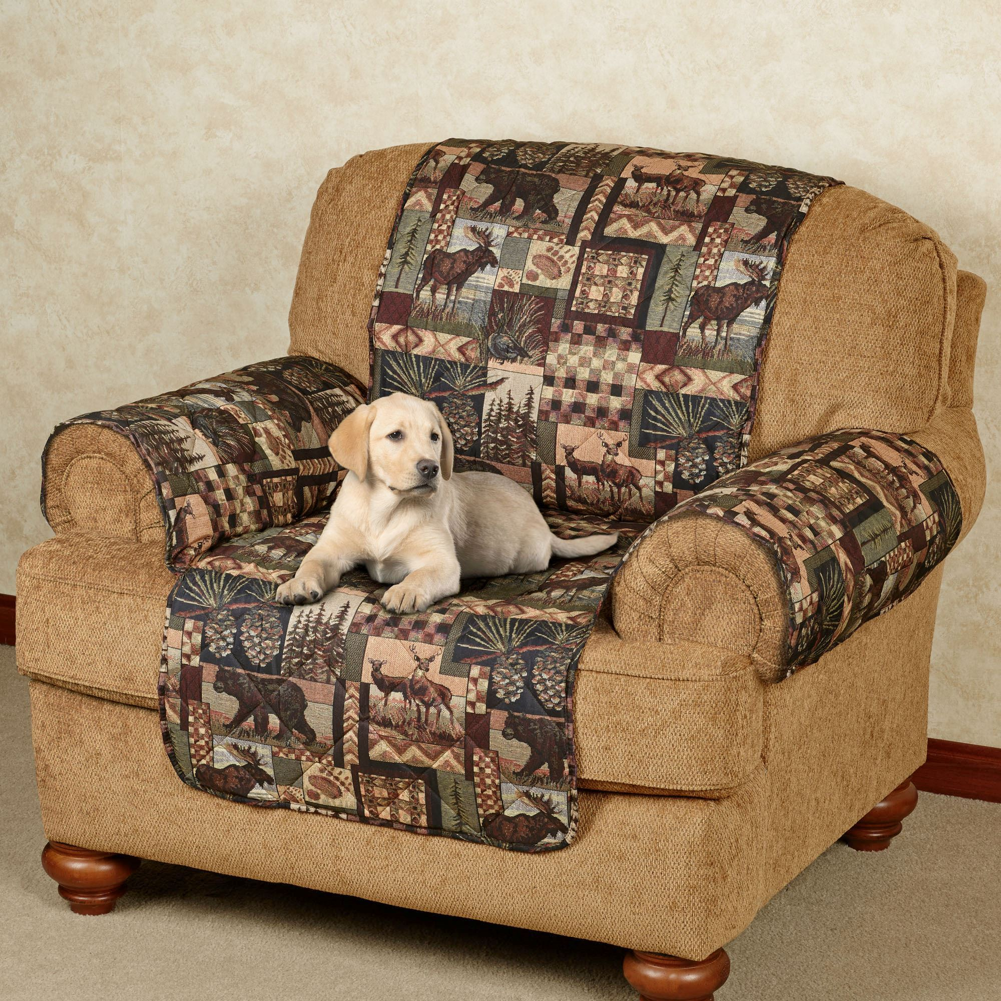 Admirable Lodge Quilted Microfiber Pet Furniture Covers Inzonedesignstudio Interior Chair Design Inzonedesignstudiocom