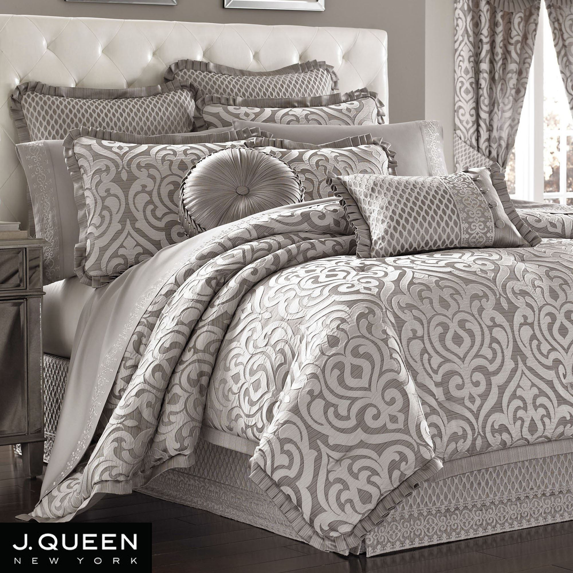 comforter poppy bedding grey set sets queen gray silver and purple