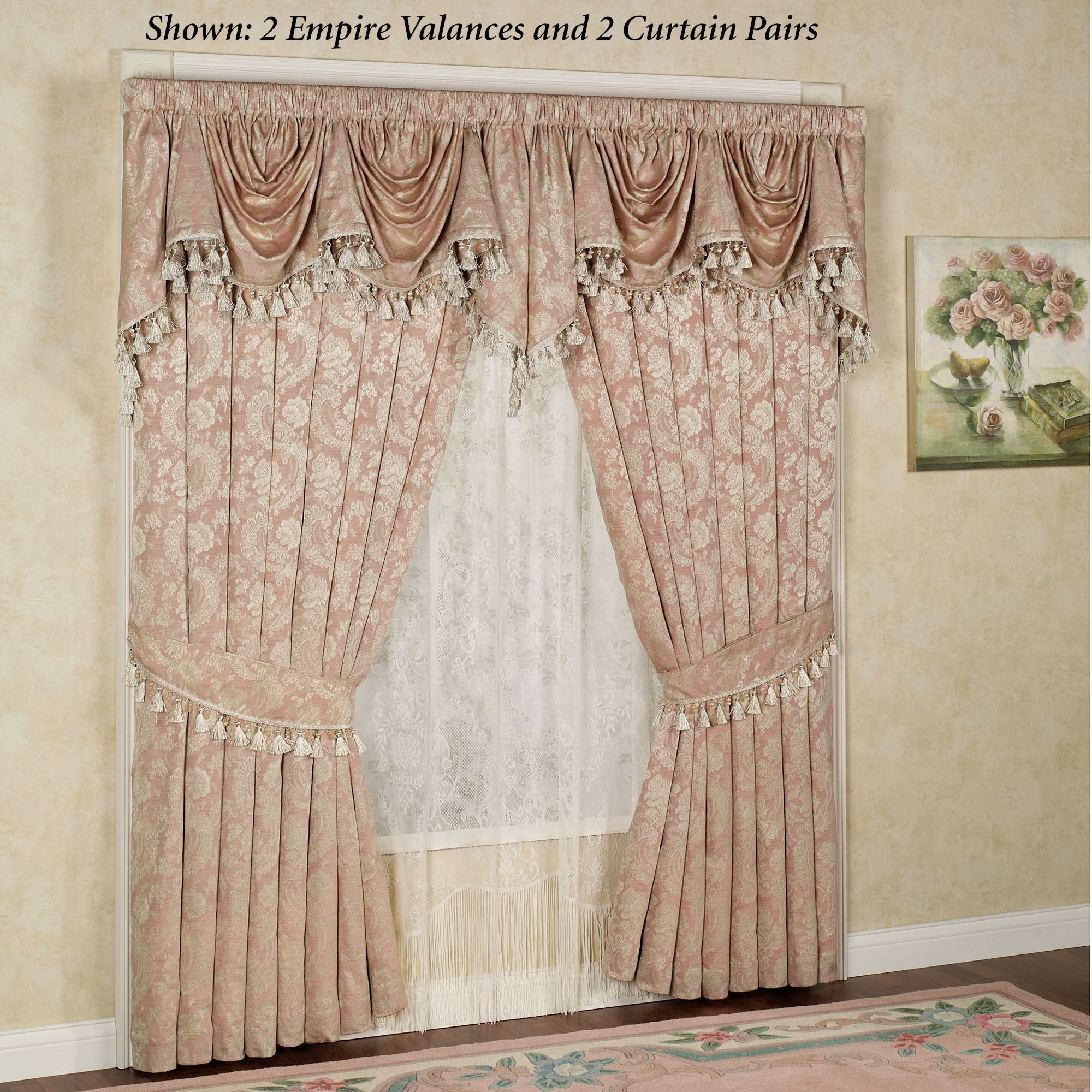 com curtain by panel rose inches home sheer mauve dusty curtains hotel crushed amazon grommet dp abri kitchen royal