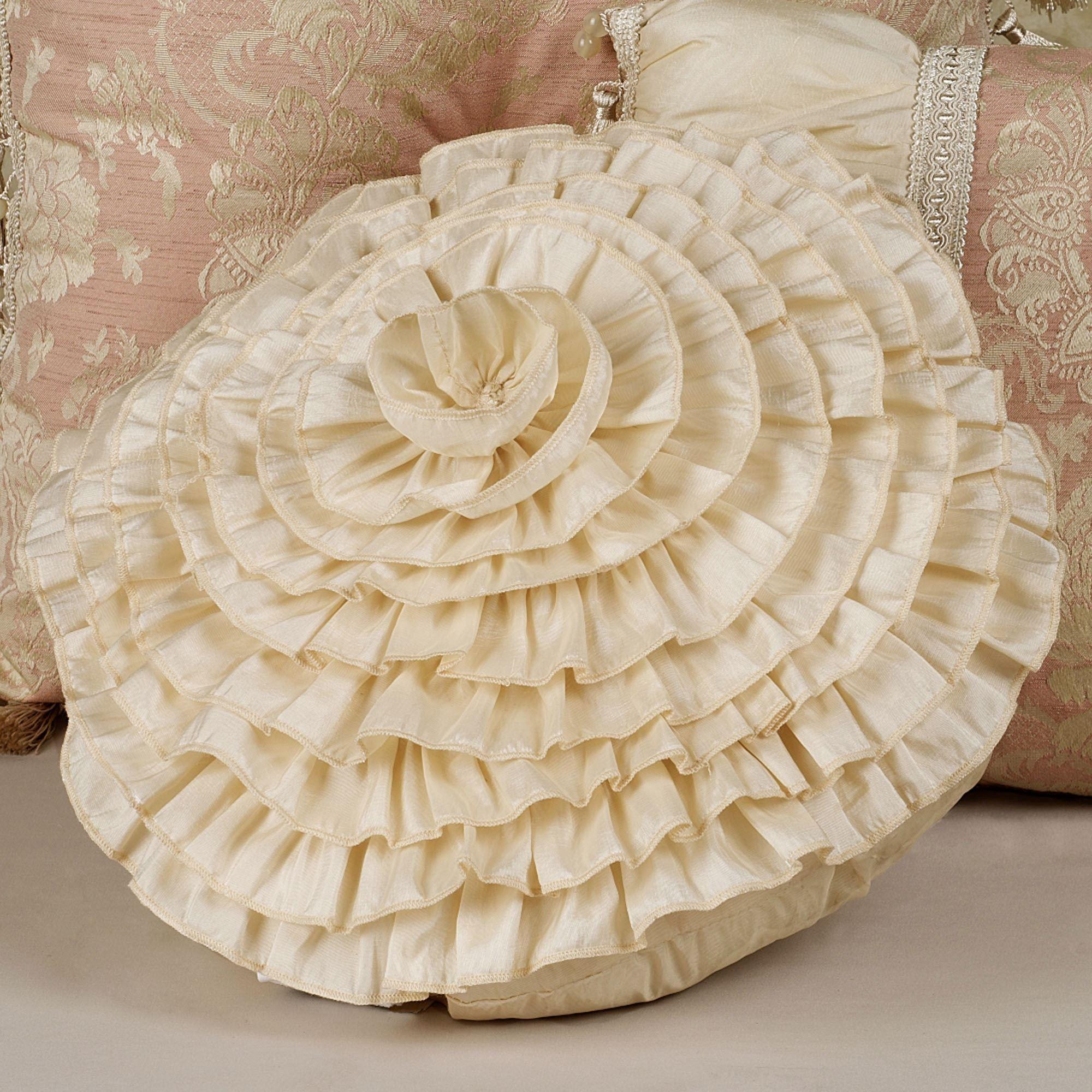 Chantilly Rose Decorative Pillows