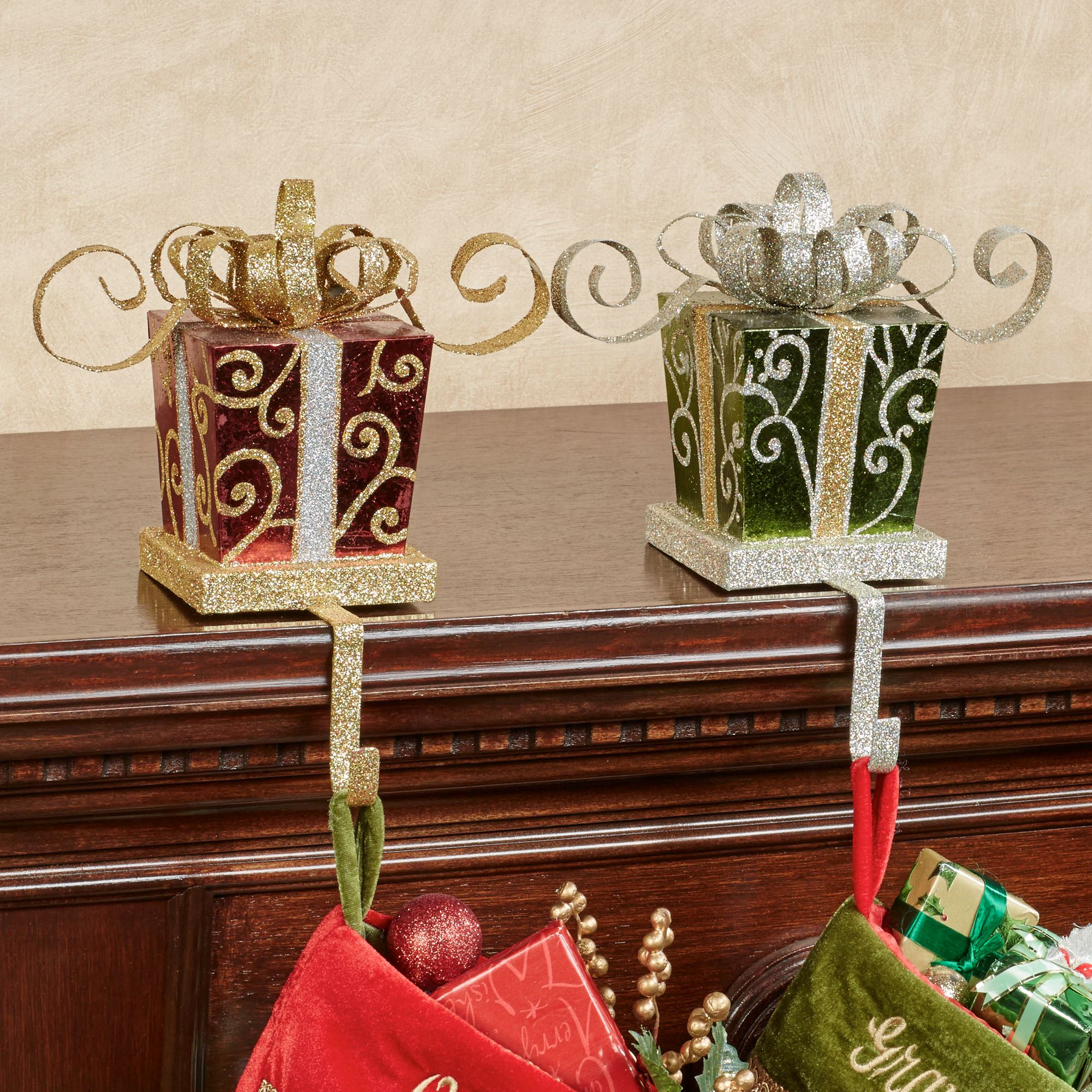 Holiday Gift Stocking Holder Set