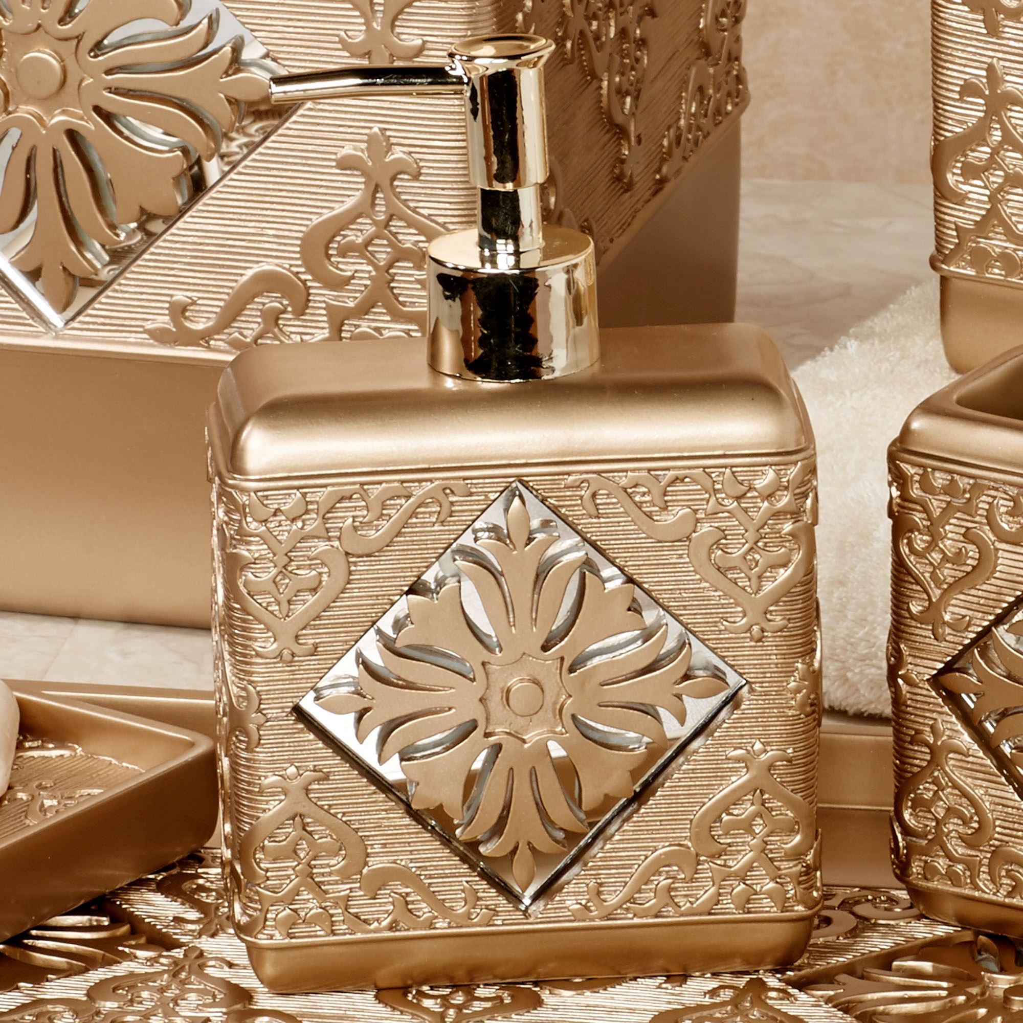 Majesty Lotion Soap Dispenser Champagne Gold