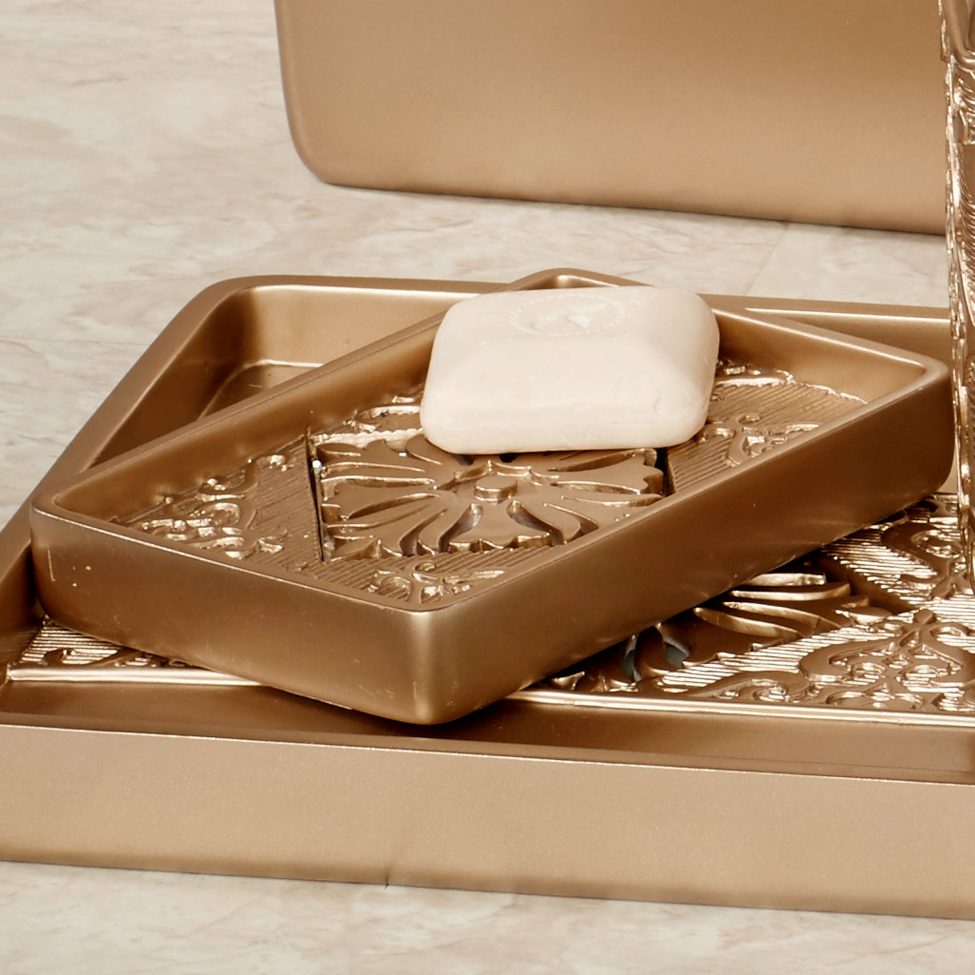 Majesty Champagne Gold Bath Accessories