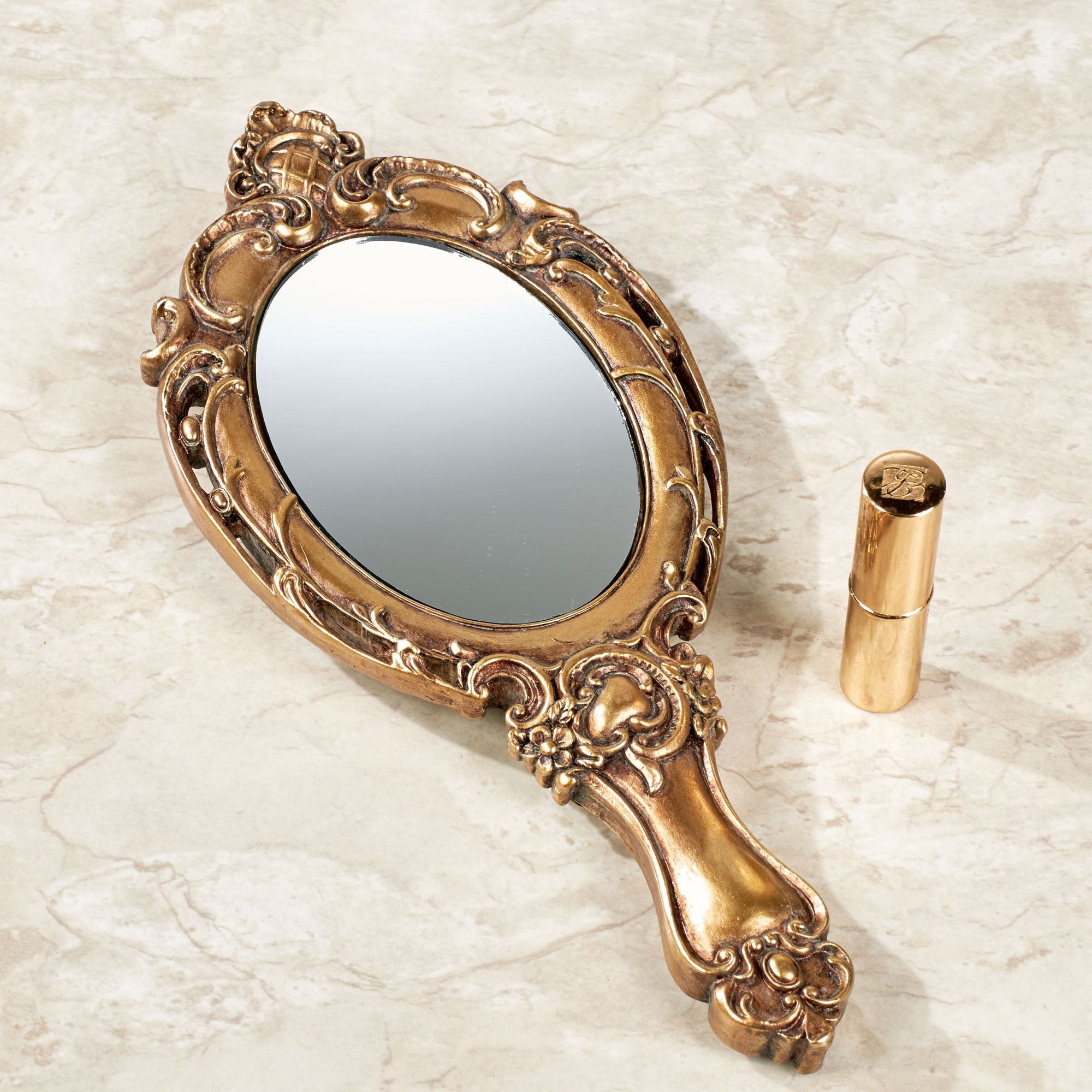 Darling Diora Gold Vanity Hand Mirror