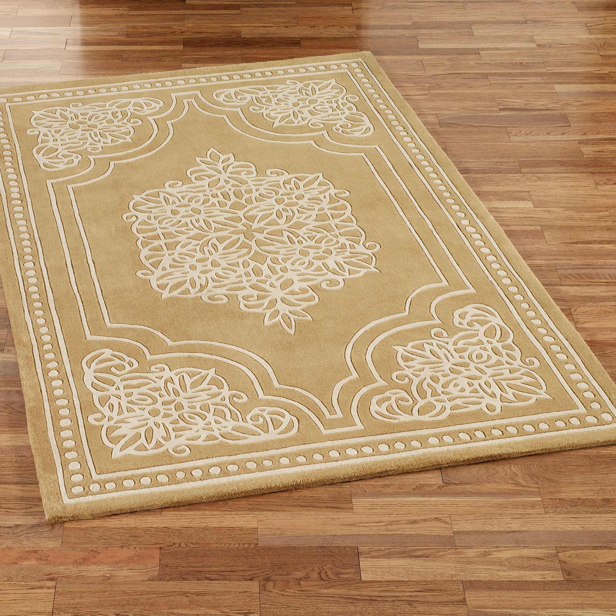 Golden Lace Area Rugs