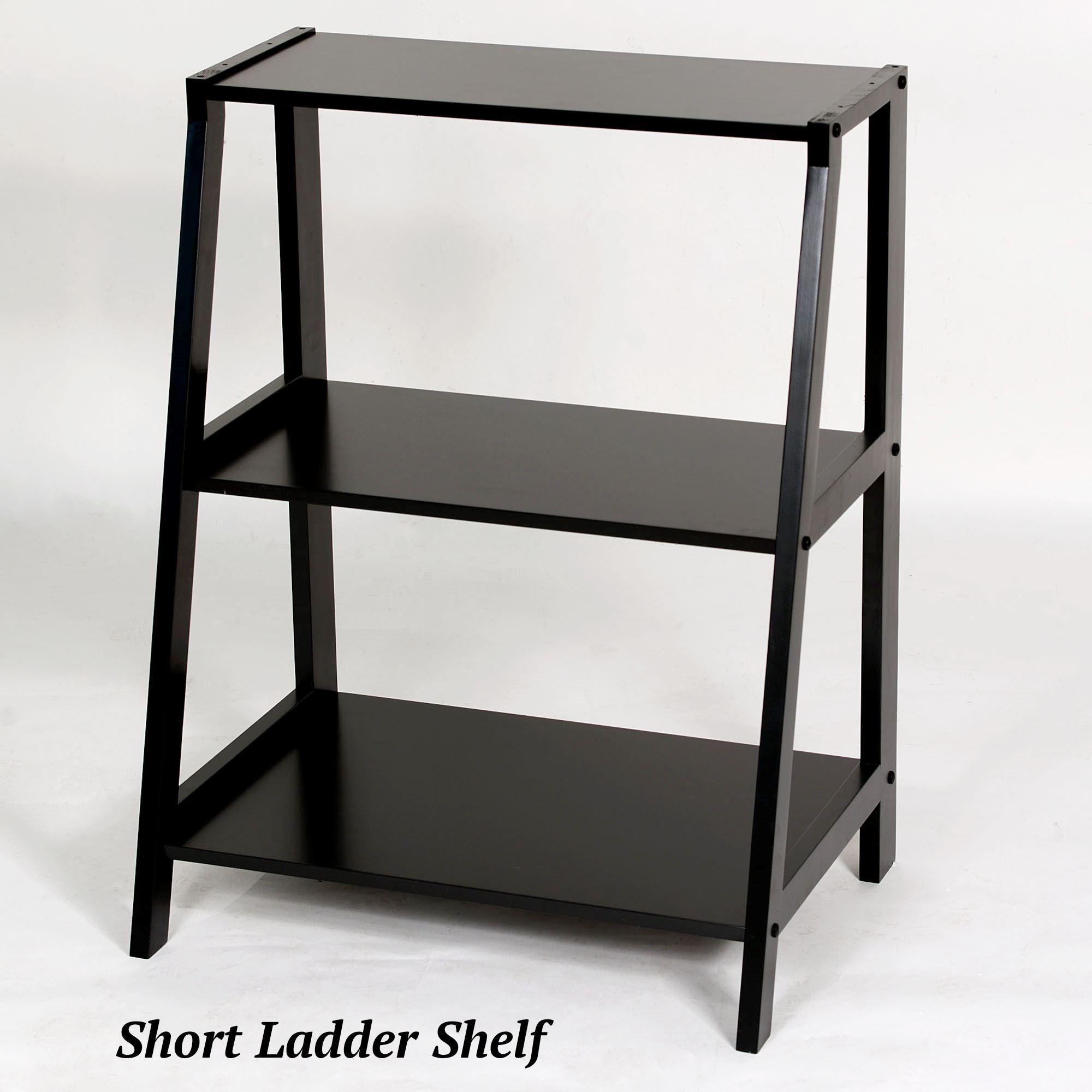 Attractive Kimber Black Corner and Ladder Shelves BS13