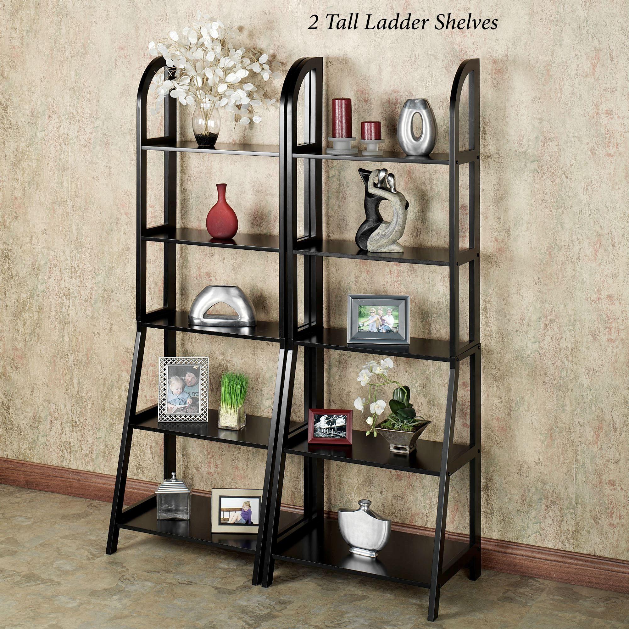 Kimber Short Corner Shelf Pair Black 3
