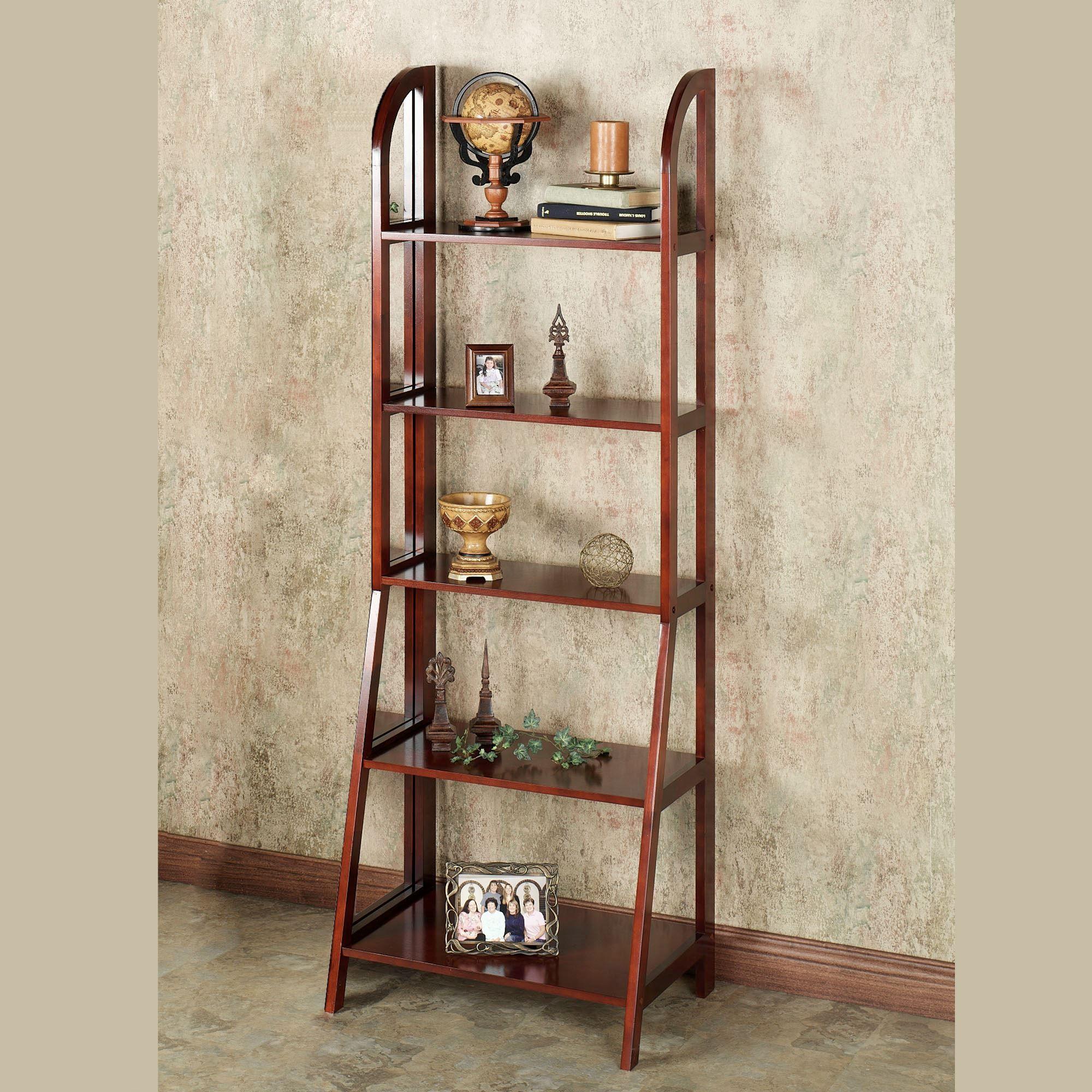 Kimber Cherry Ladder And Corner Shelves
