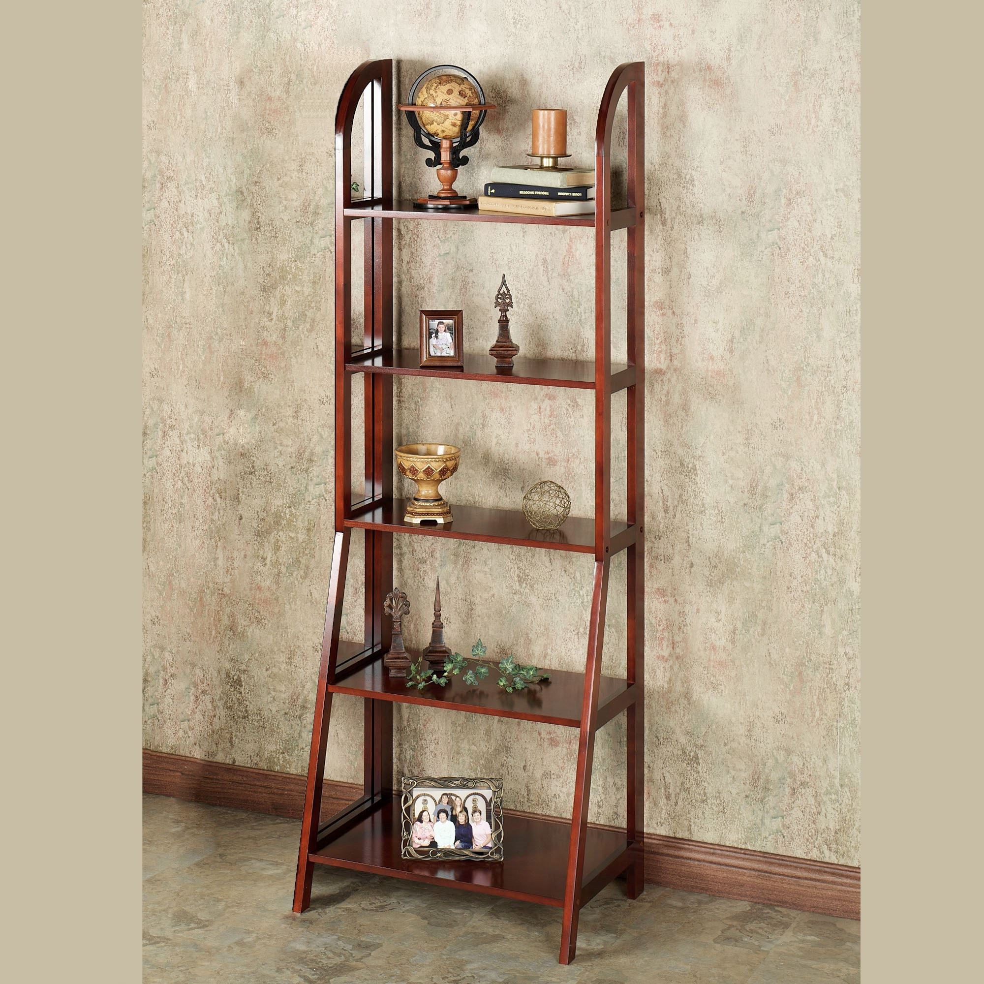 Kimber Tall Ladder Shelf Only Classic Cherry 5