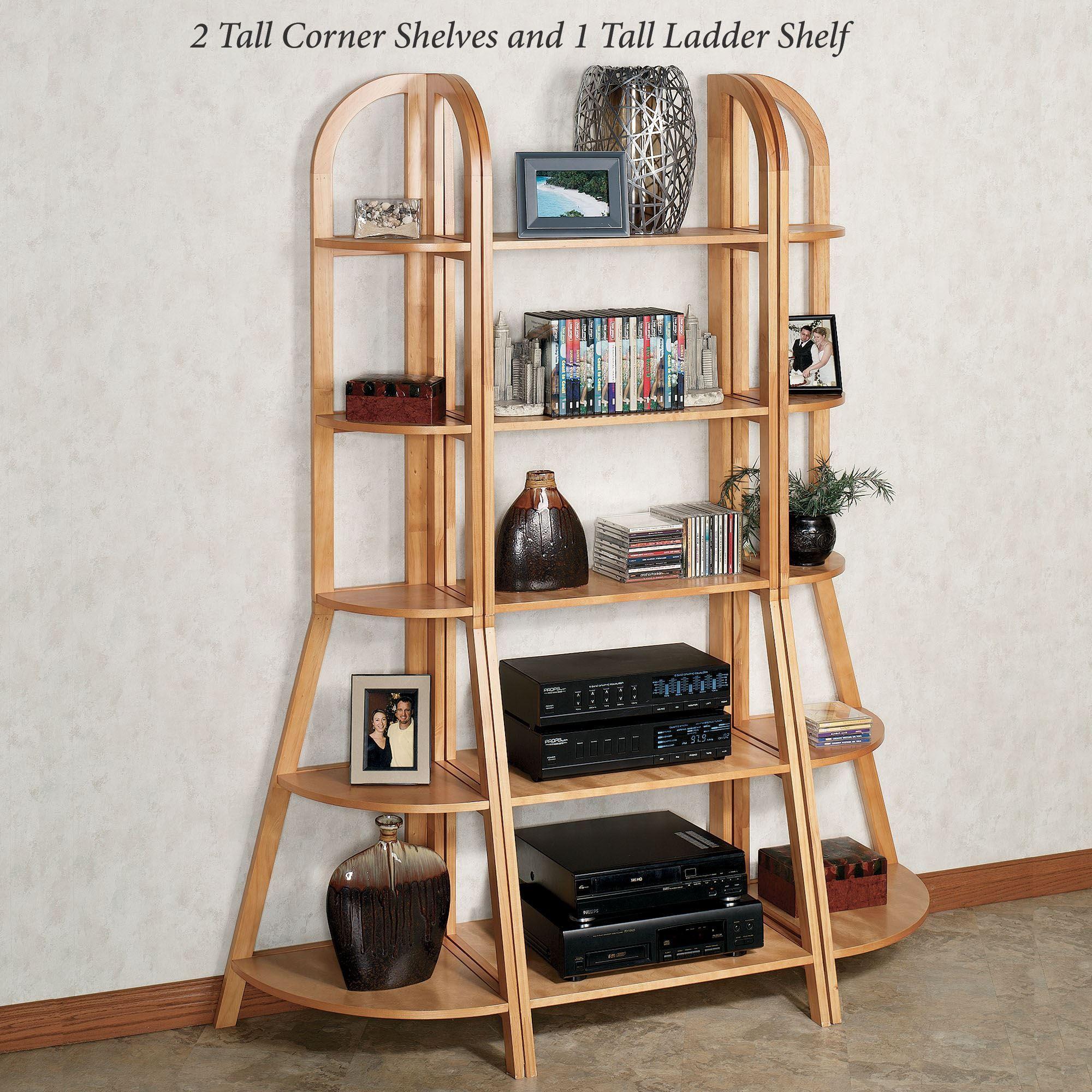 Kimber Natural Oak Corner And Ladder Shelves