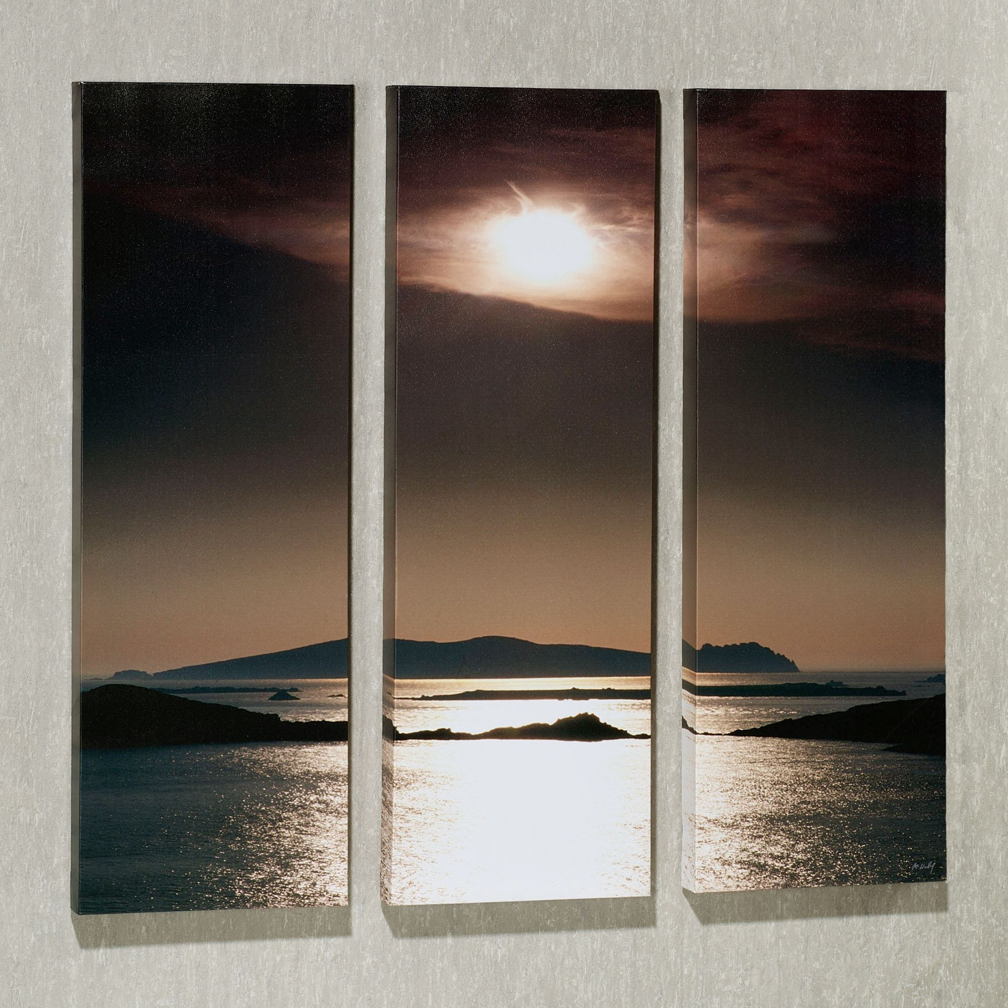 Good Tranquil View Triptych Canvas Art Set. Tranquil View Triptych. Click To  Expand