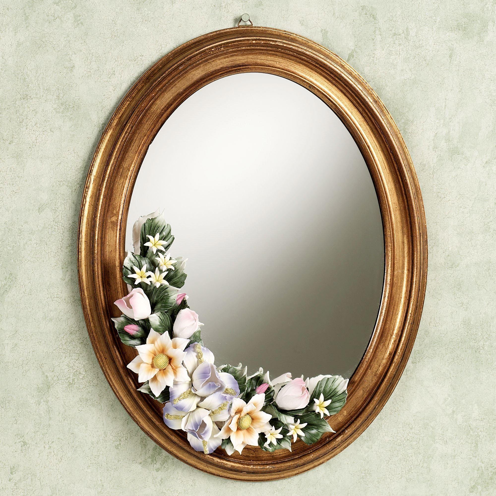 Leanna Floral Wall Mirror