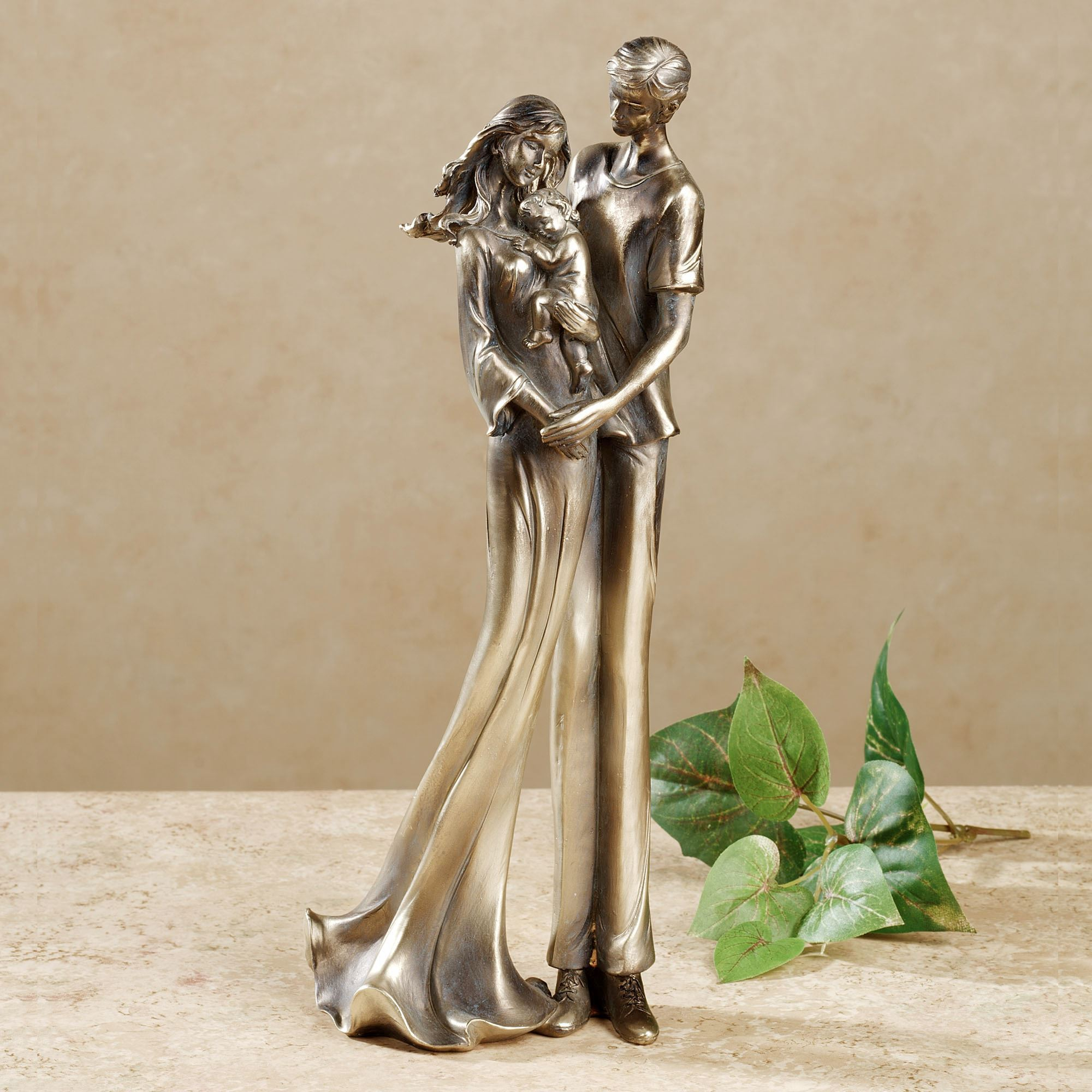 for all eternity family bronze table sculpture