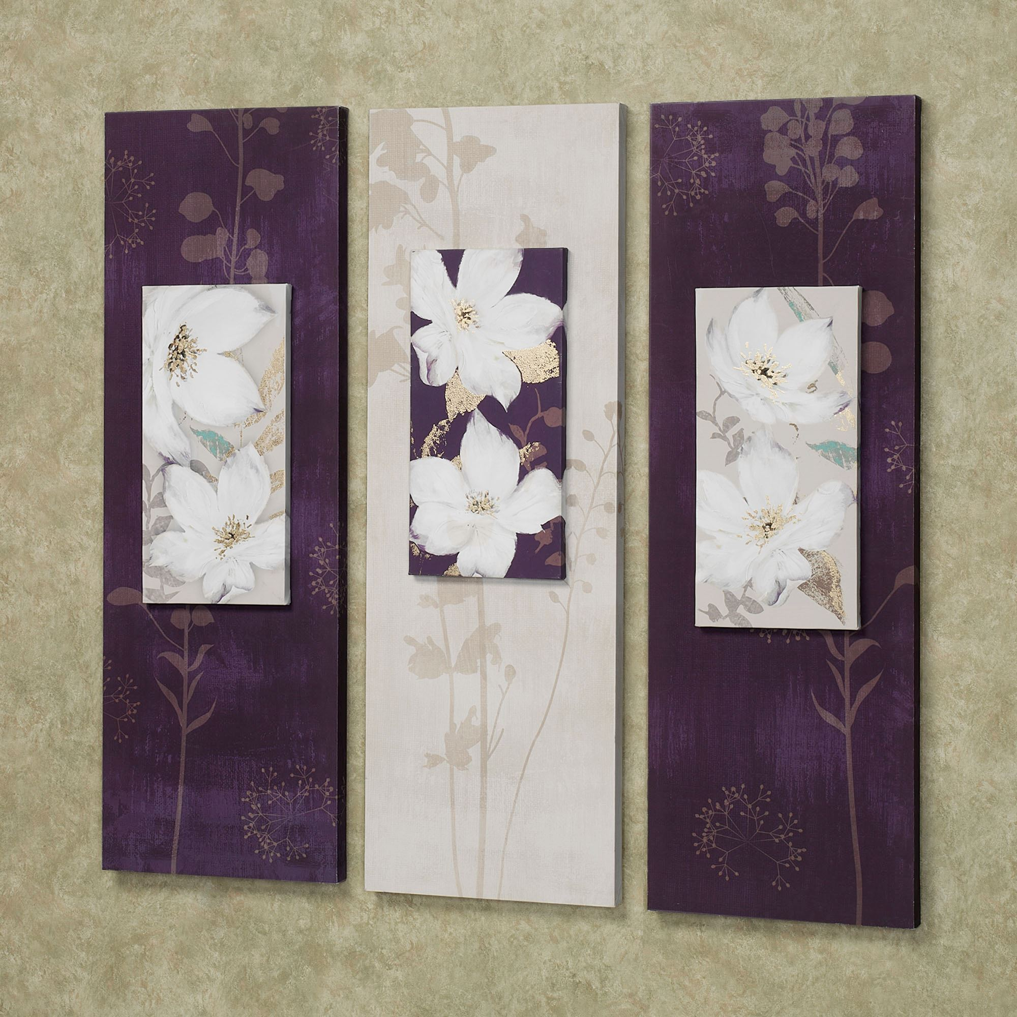 Garden dance floral canvas wall art set for Wall art sets