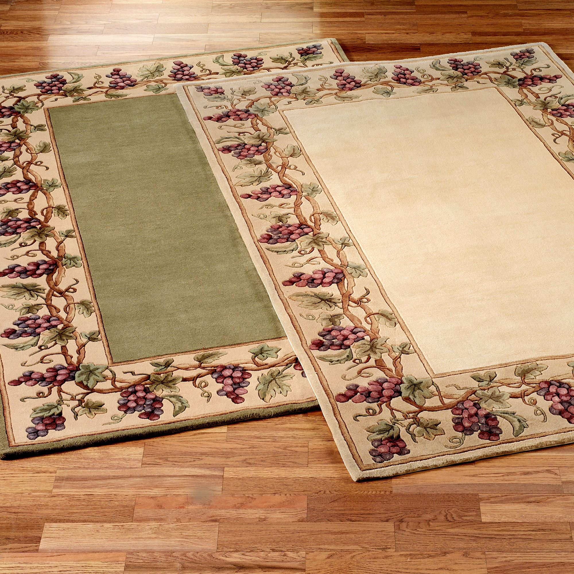 Grapes Napa Border Area Rugs