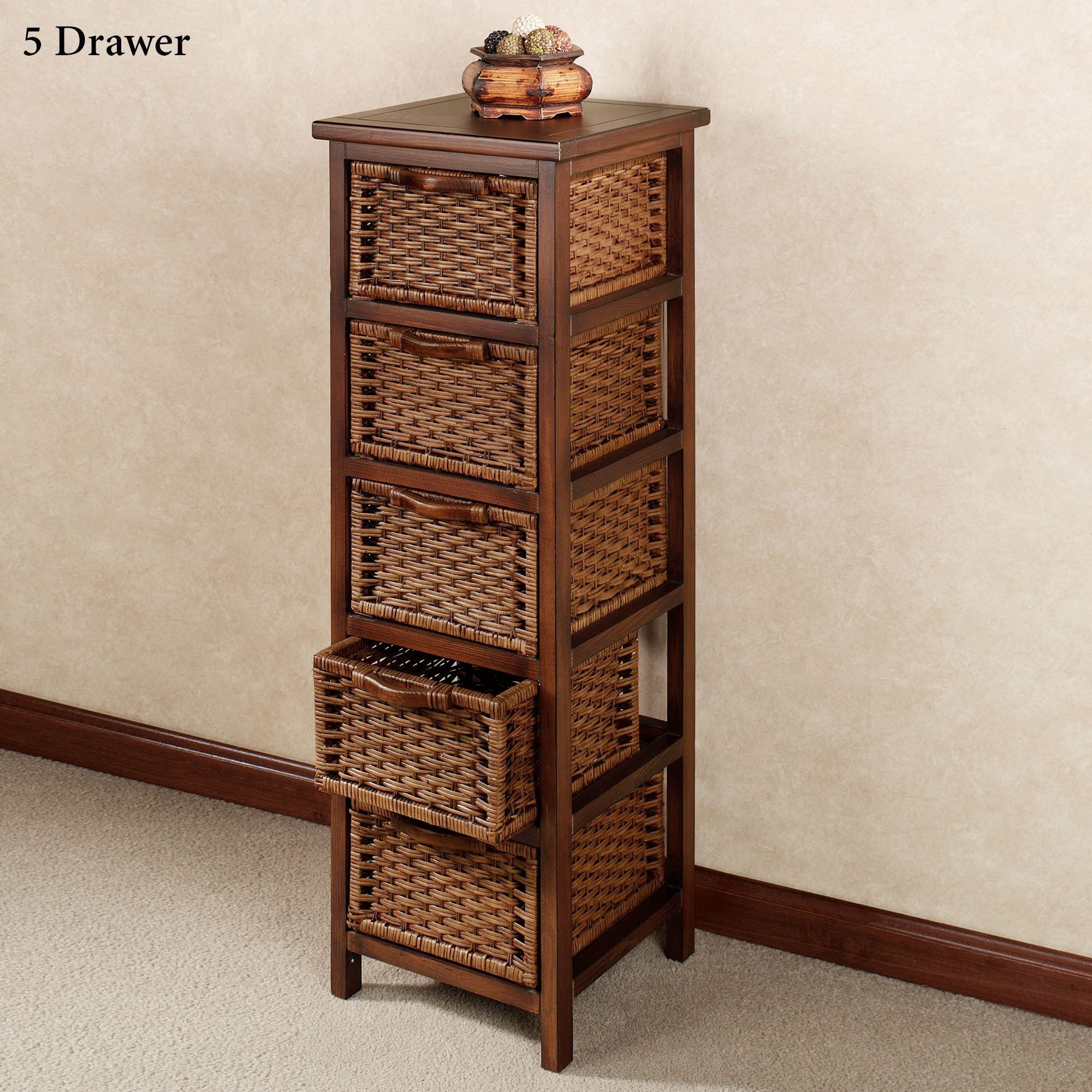 montaserro wooden and rattan chest of drawers