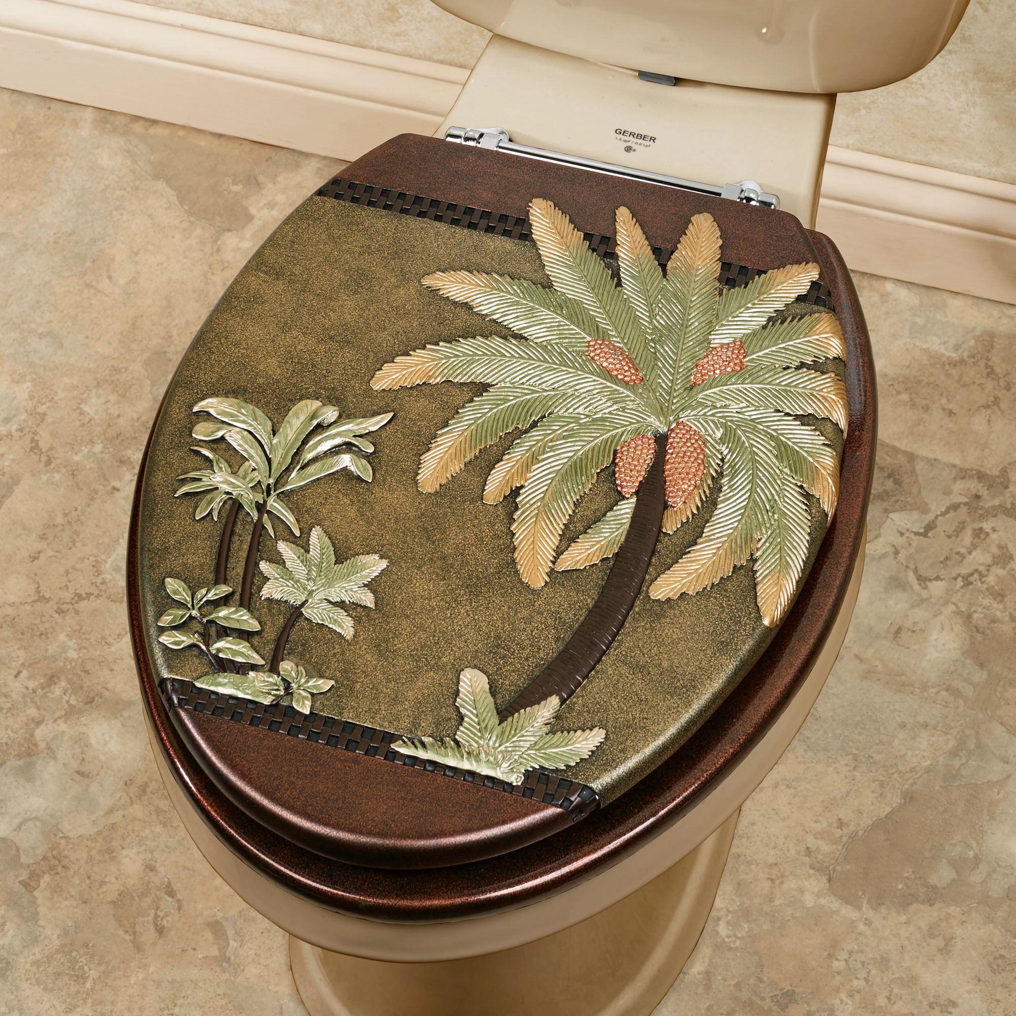 Havana Tropical Palm Tree Elongated Toilet Seat