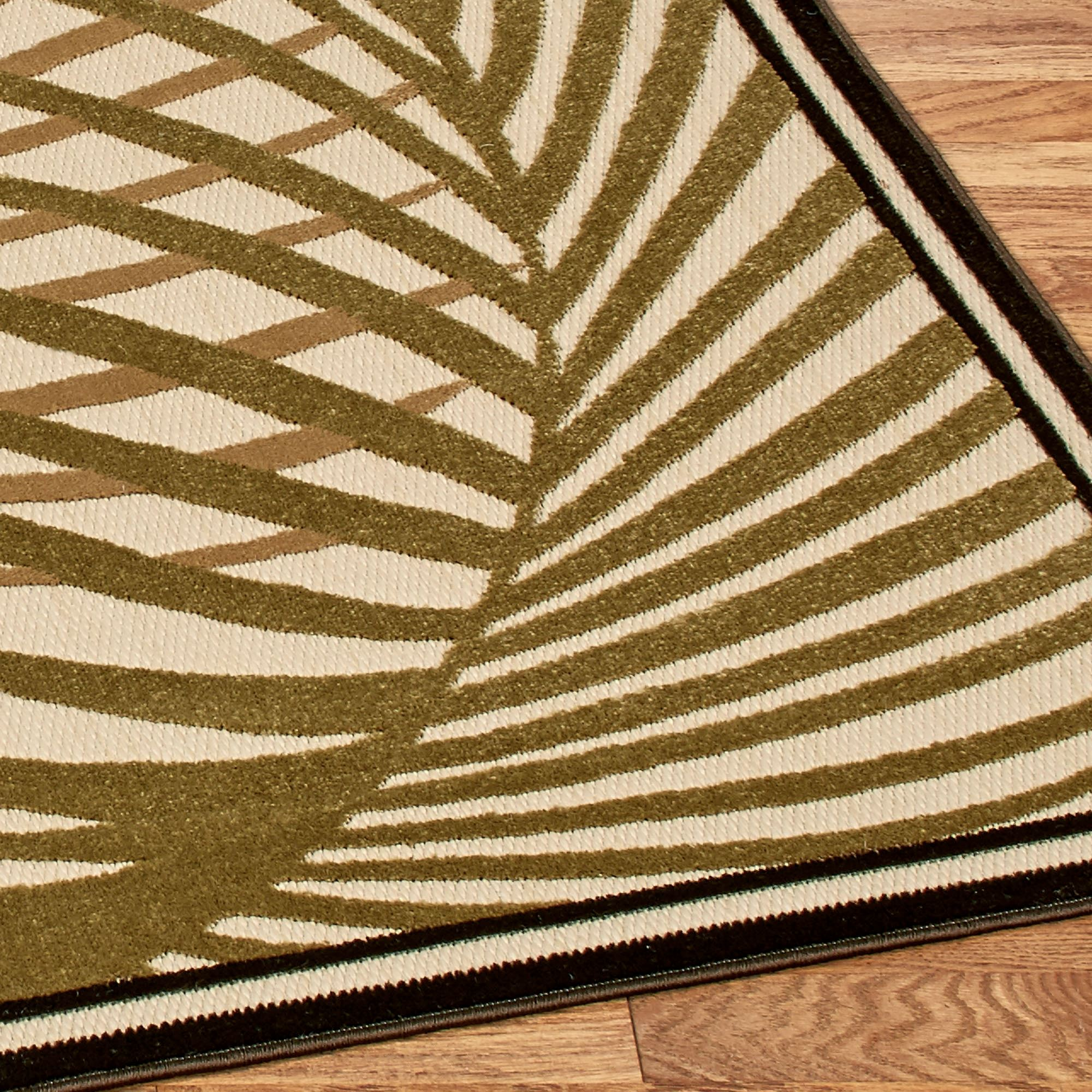 Palm Areca Indoor Outdoor Tropical Rugs