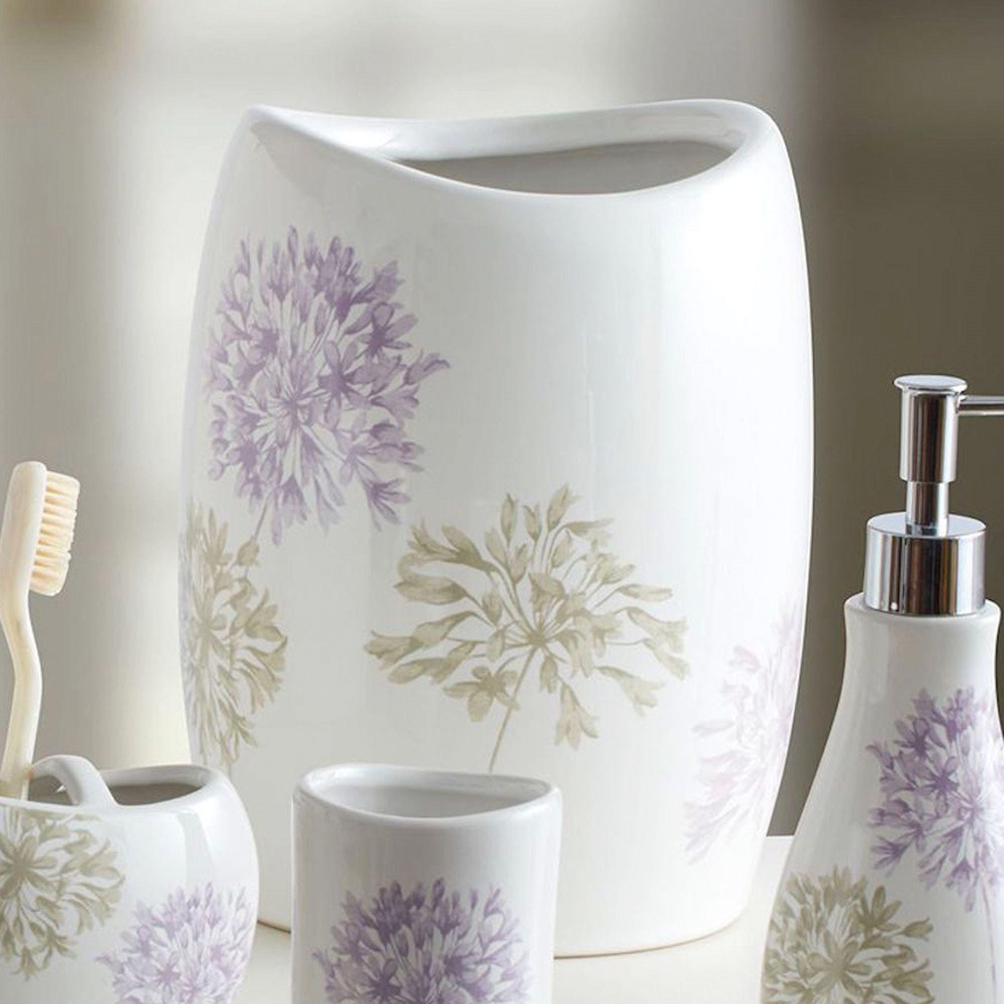 Captivating Dandelion Wastebasket Ivory