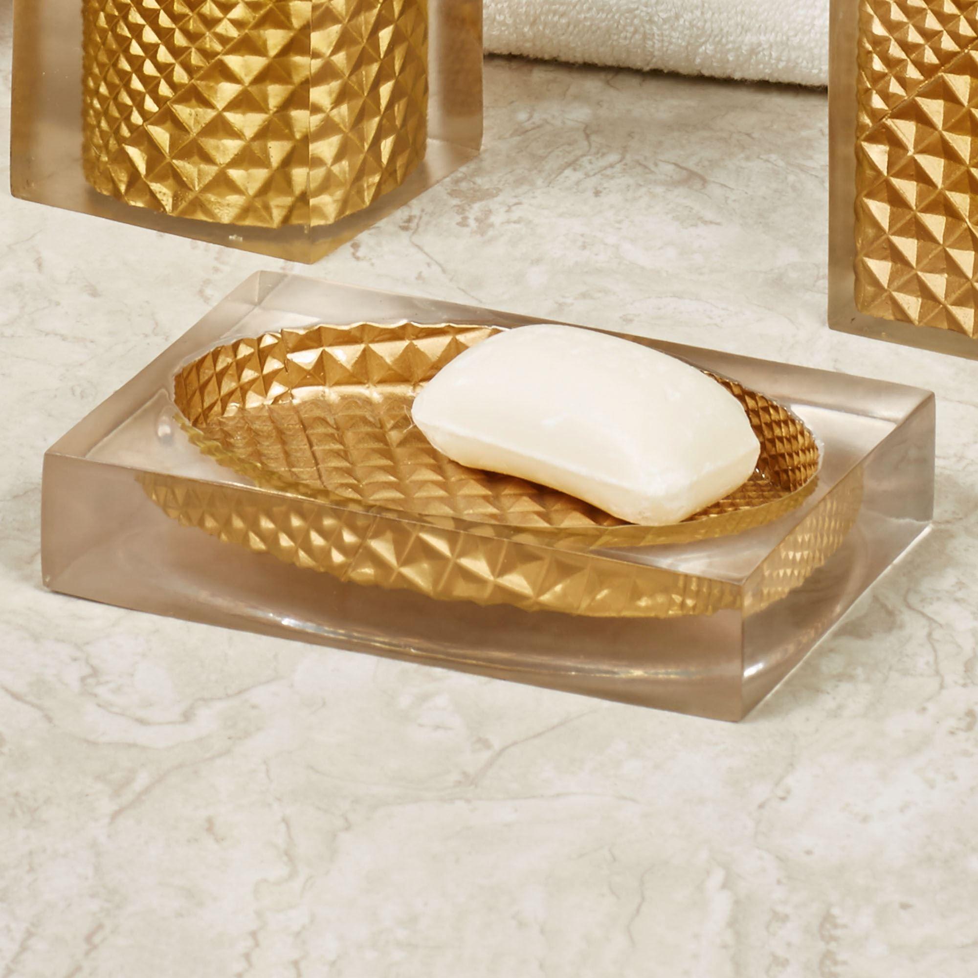 Diamond Elite Gold Bath Accents by Sherry Kline