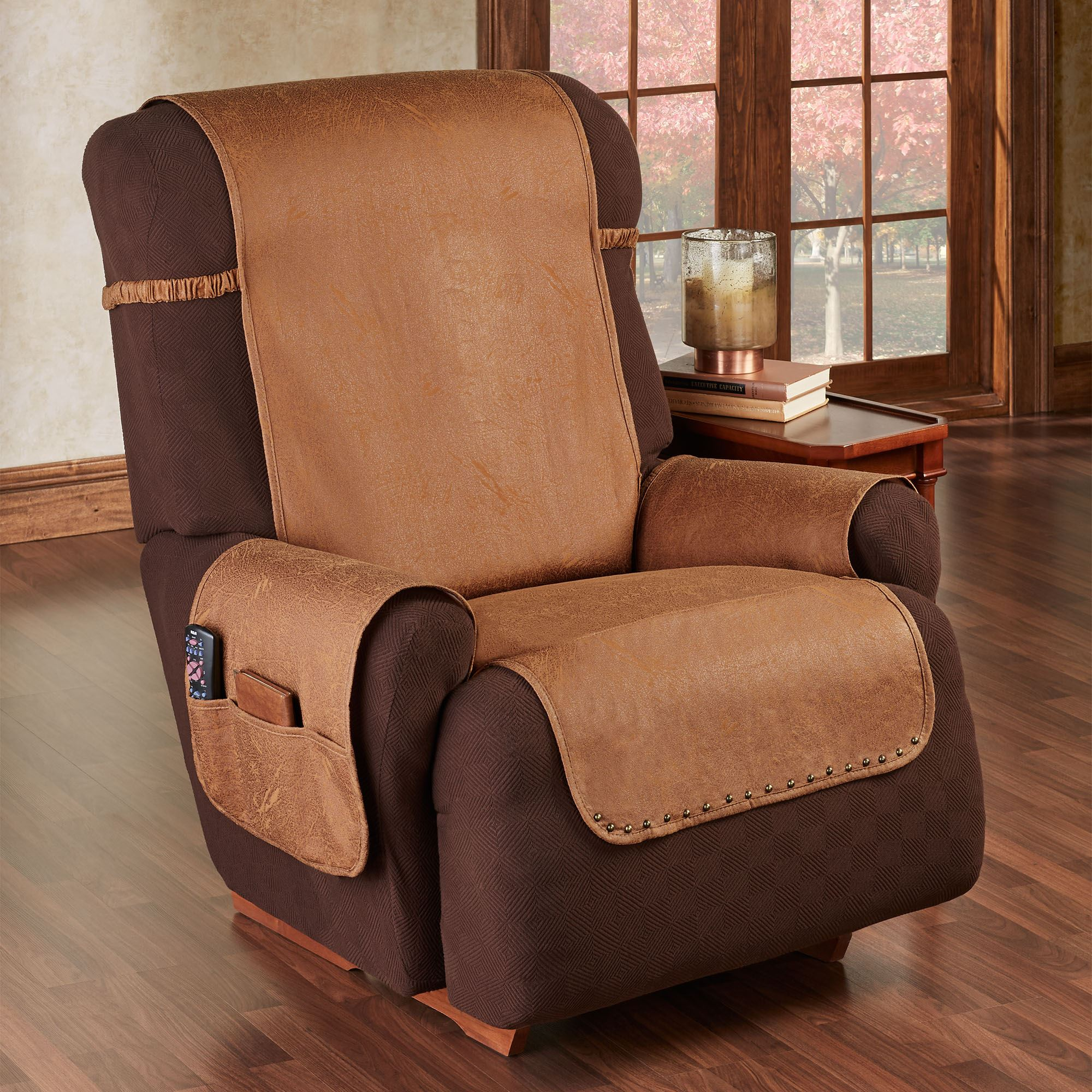 Stonehill Cognac Slip Resistant Recliner Furniture Protector