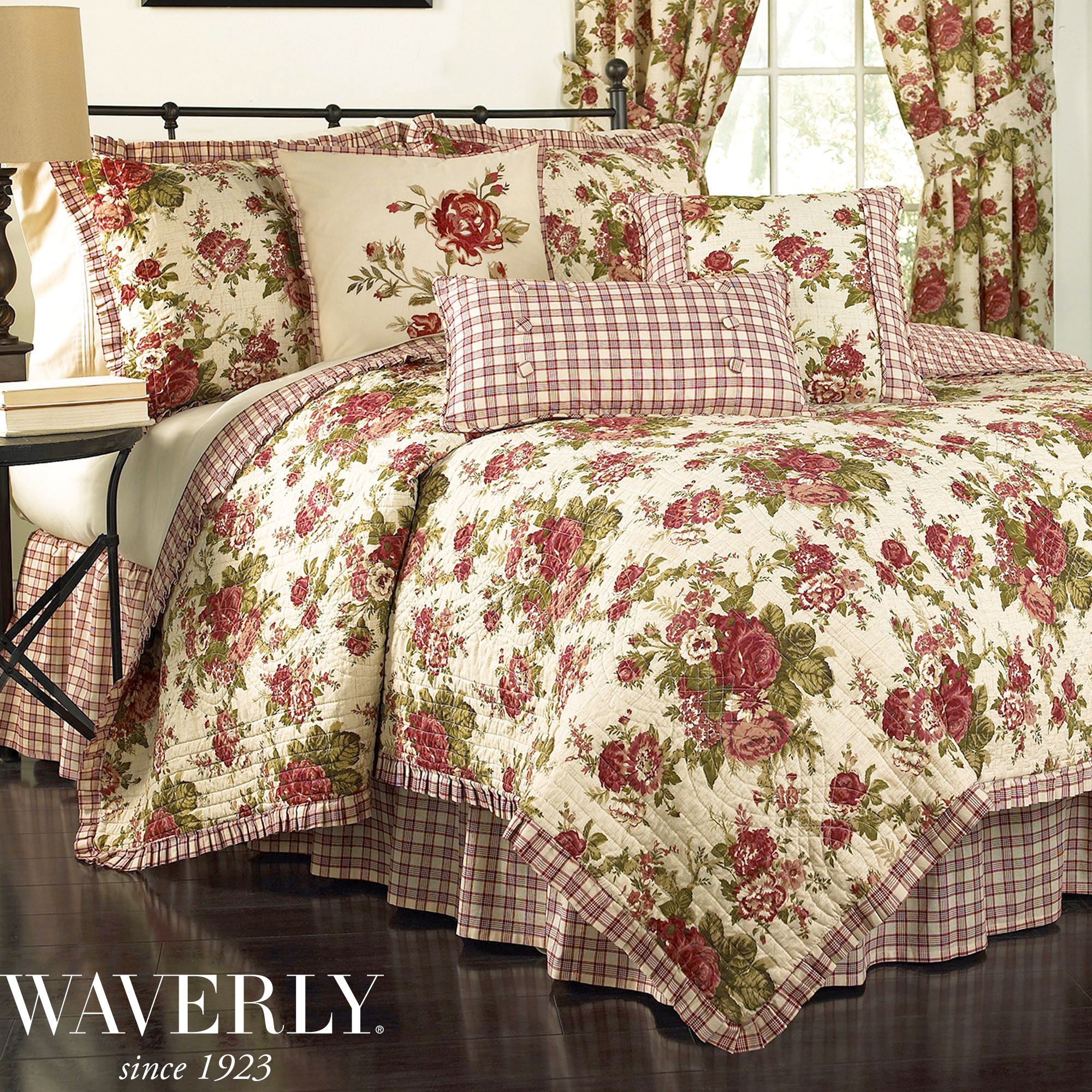 Norfolk Rose Floral Quilt Set By Waverly