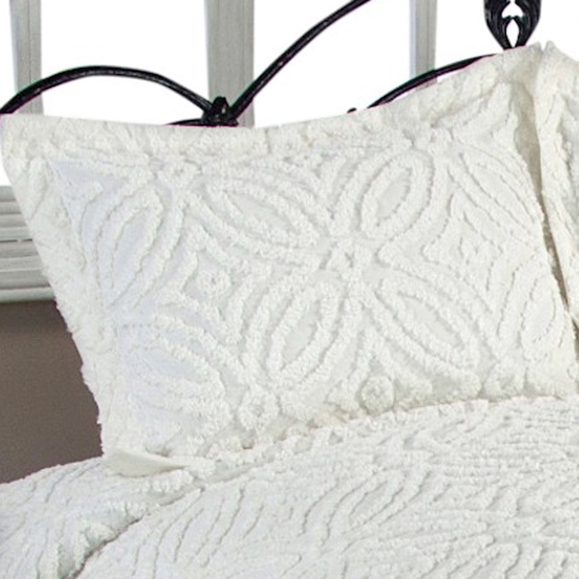 Wedding Ring Cotton Chenille Bedspread Bedding