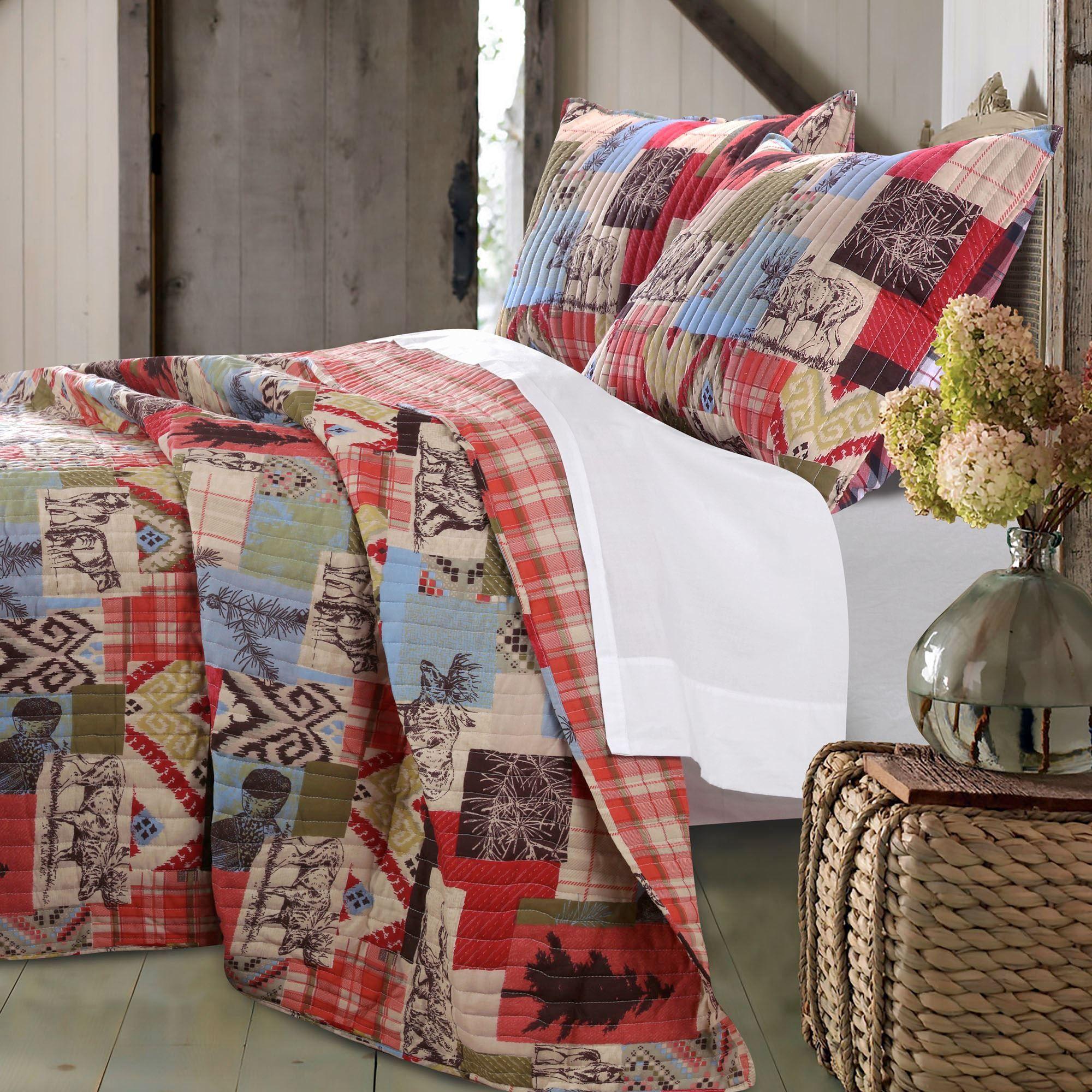Rustic Lodge Bear and Moose Quilt Set : moose lodge quilt set - Adamdwight.com