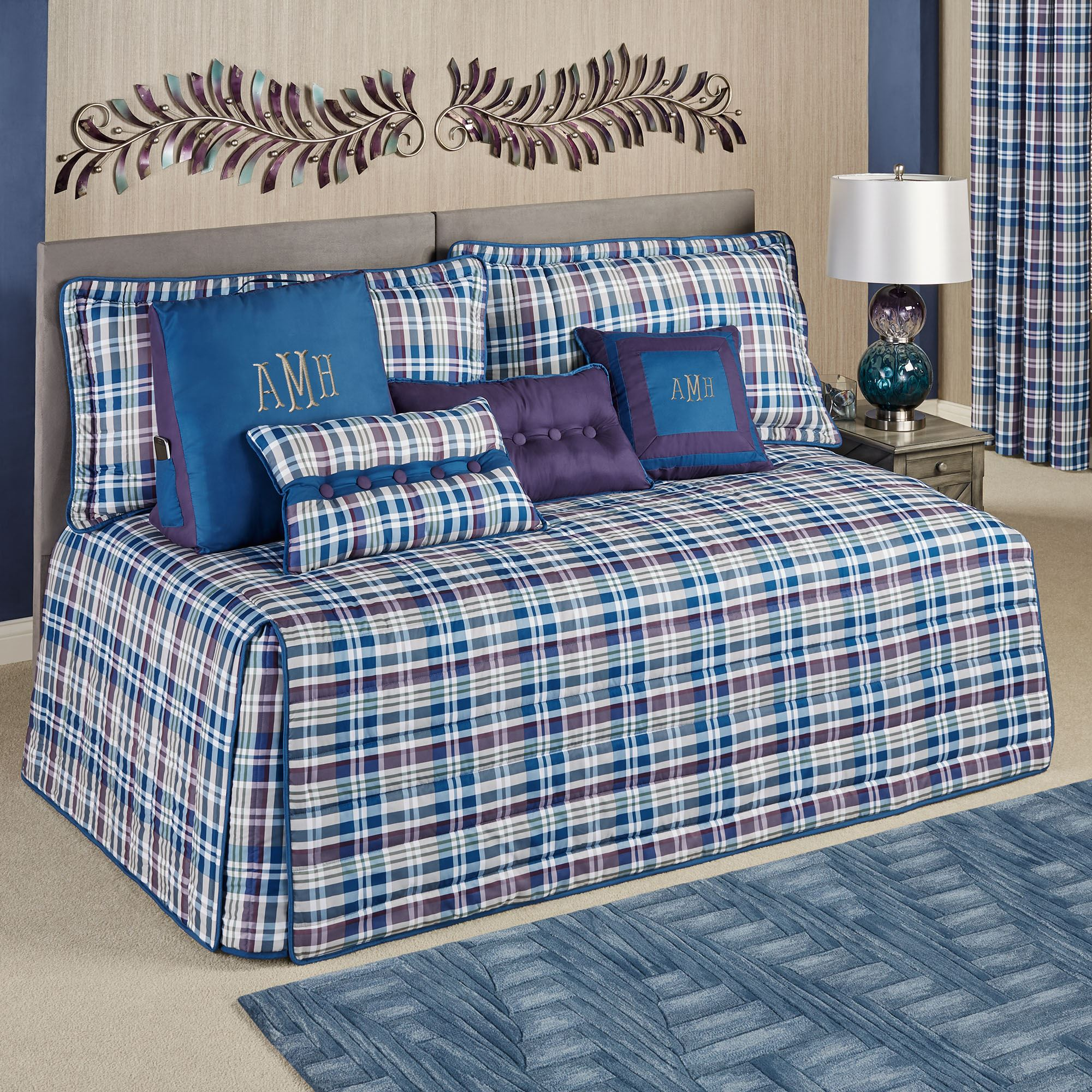 Stratton 3 Pc Plaid Daybed Bedding Set