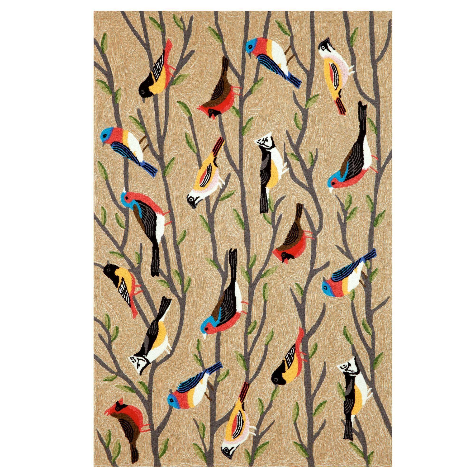 Natural Bird Indoor Outdoor Rugs By Liora Manne