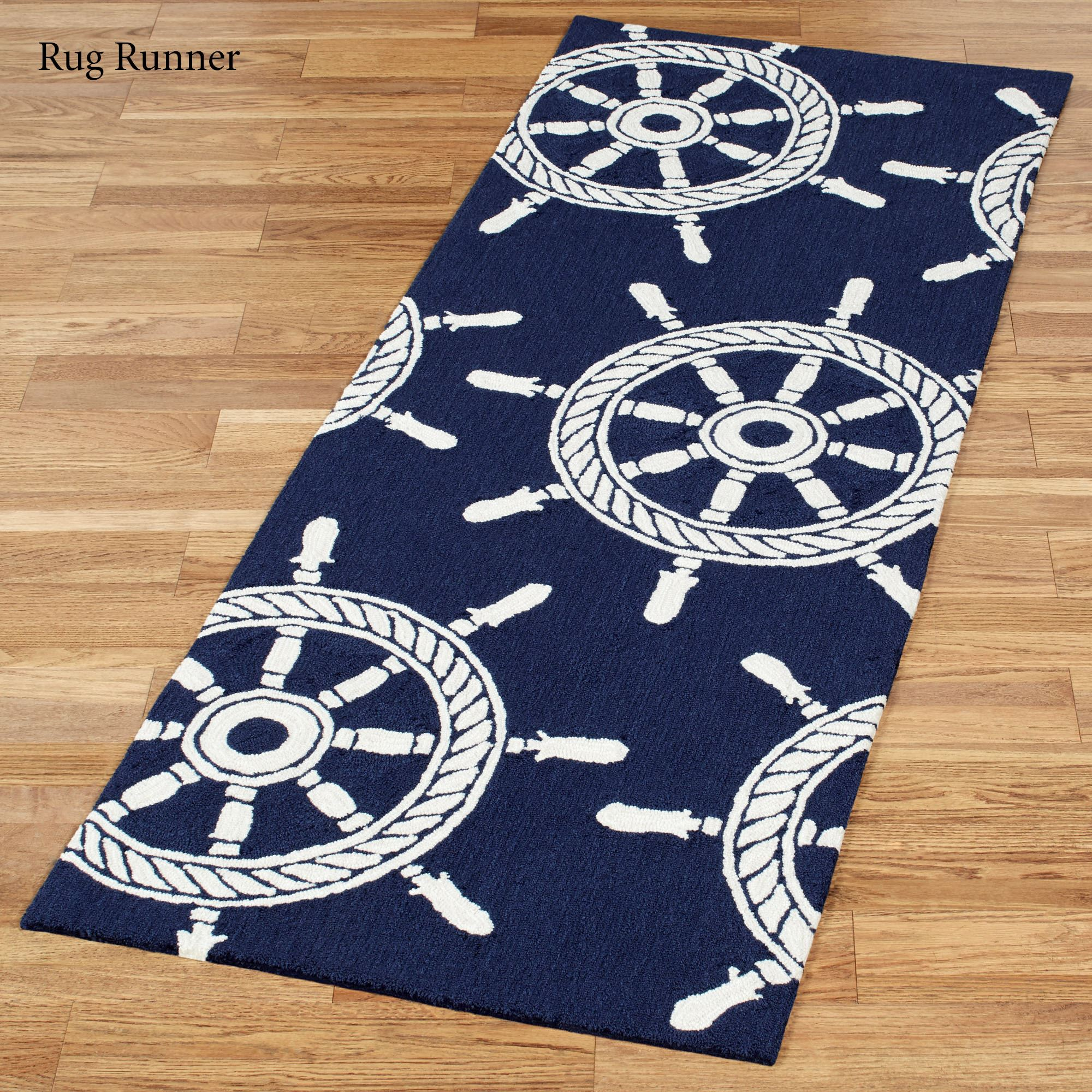 Anchor Rugs: Ship Wheel Nautical Indoor Outdoor Rugs By Liora Manne
