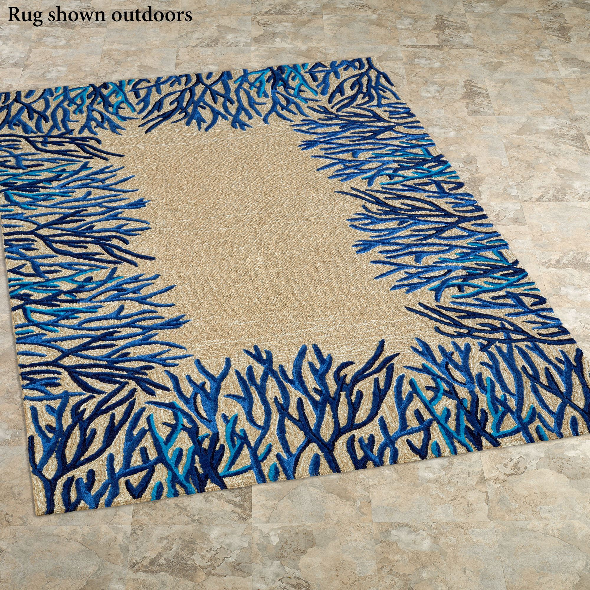 C Reef Rectangle Rug Blue