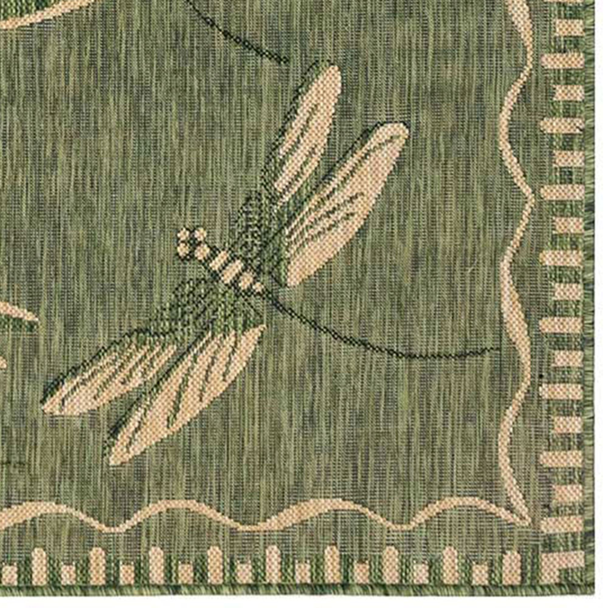 Dragonfly Flight Indoor Outdoor Rug Runner by Liora Manne