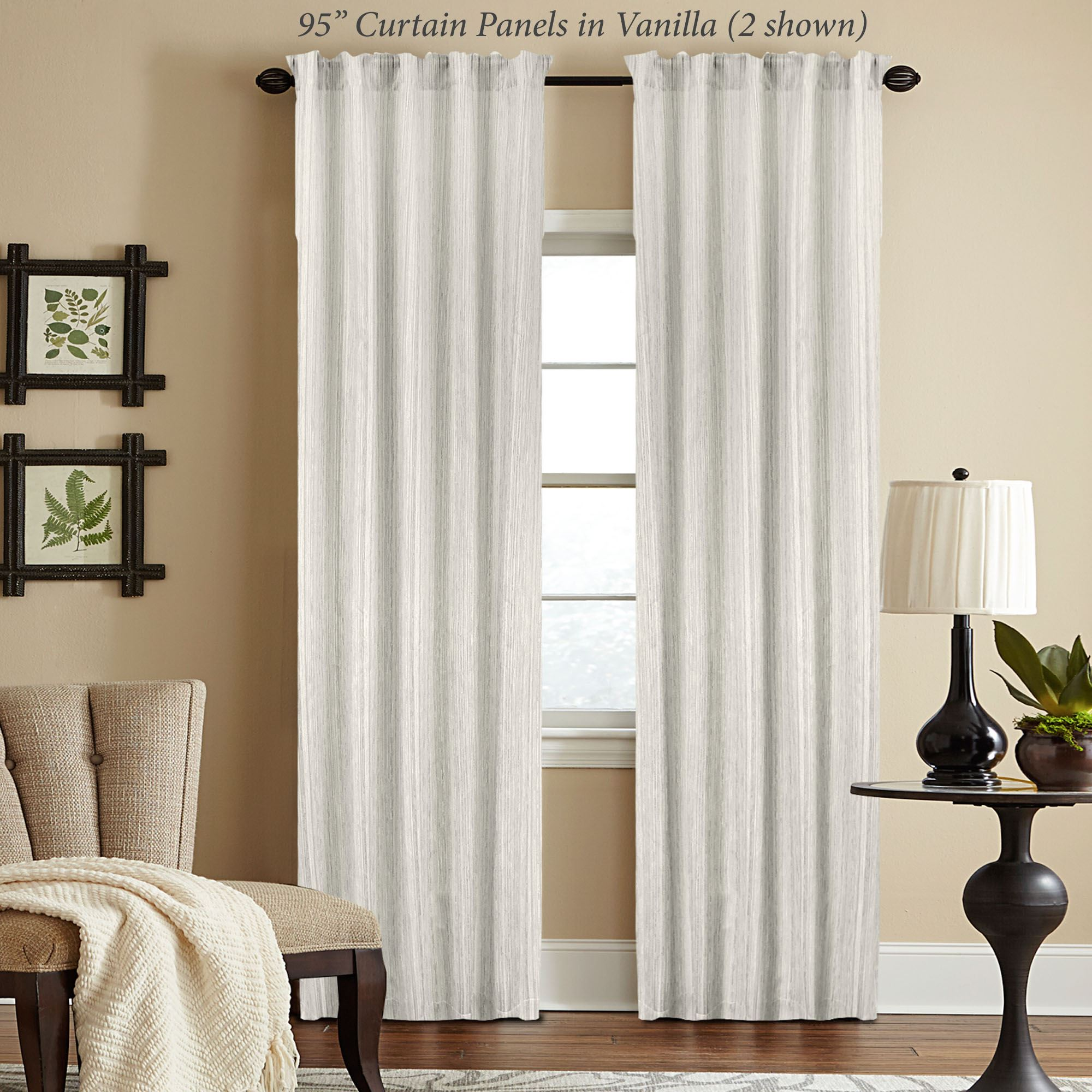 Woodrow Semi Sheer Curtain Panel Touch To Zoom