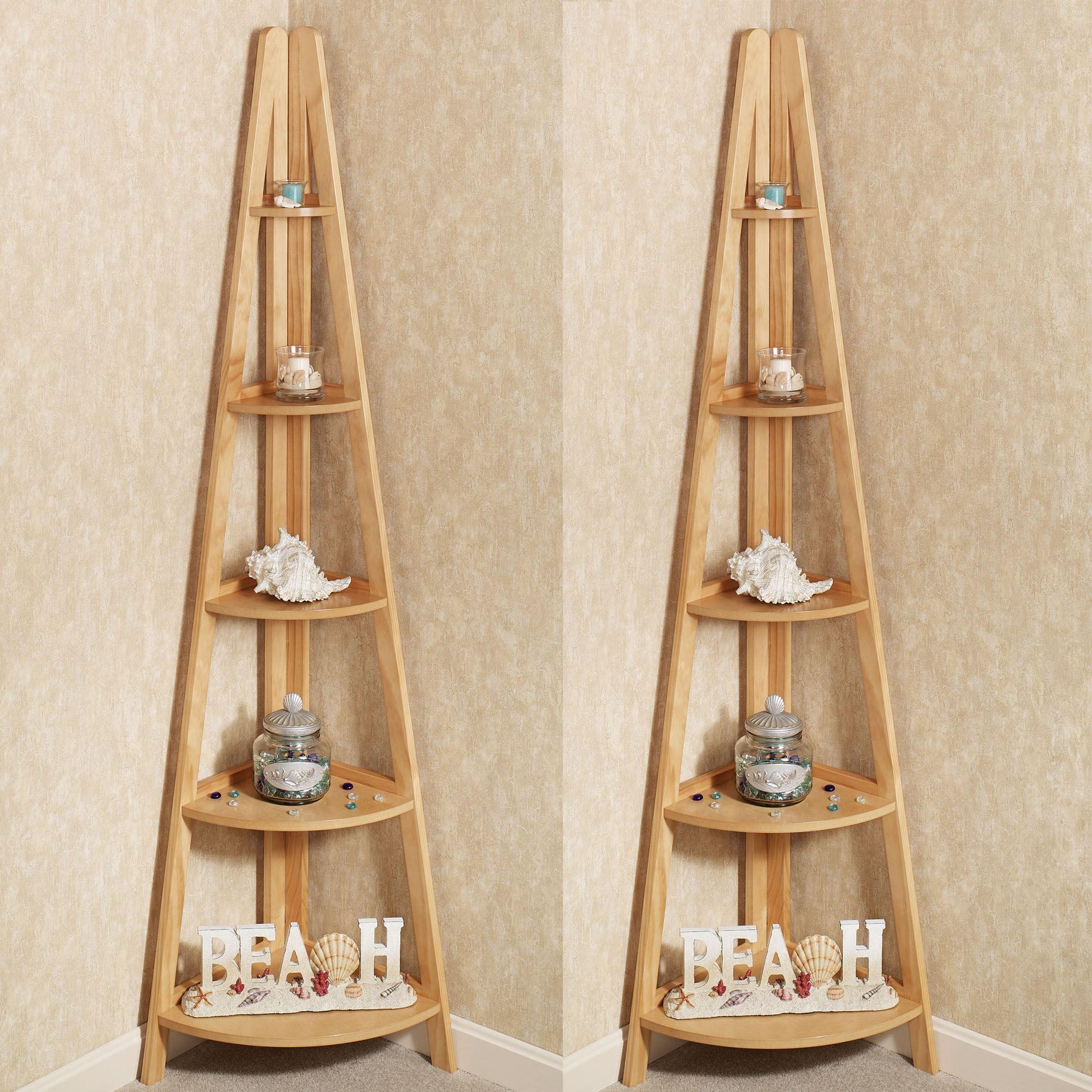 Astounding Escalera Wooden Corner Shelf Pair Download Free Architecture Designs Itiscsunscenecom
