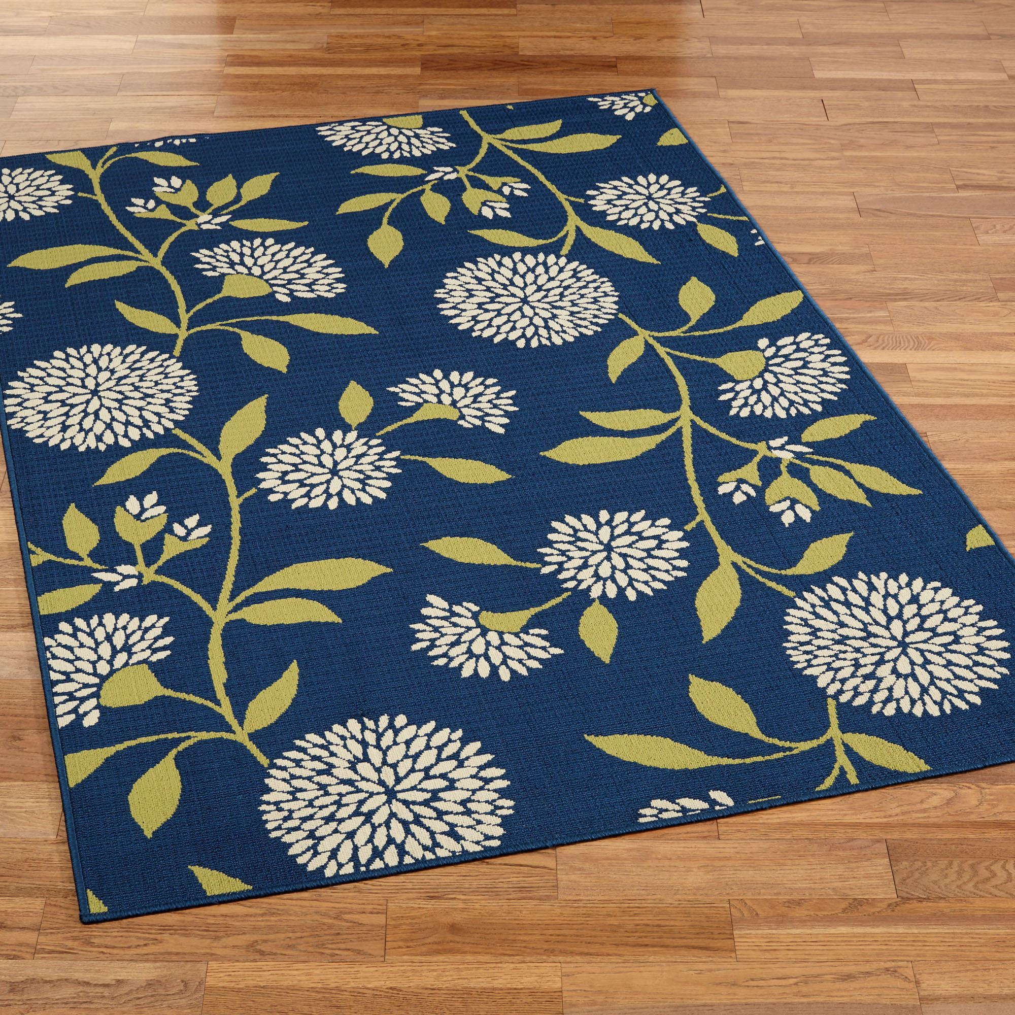 Finest Dandelion Floral Indoor Outdoor Area Rugs XV27