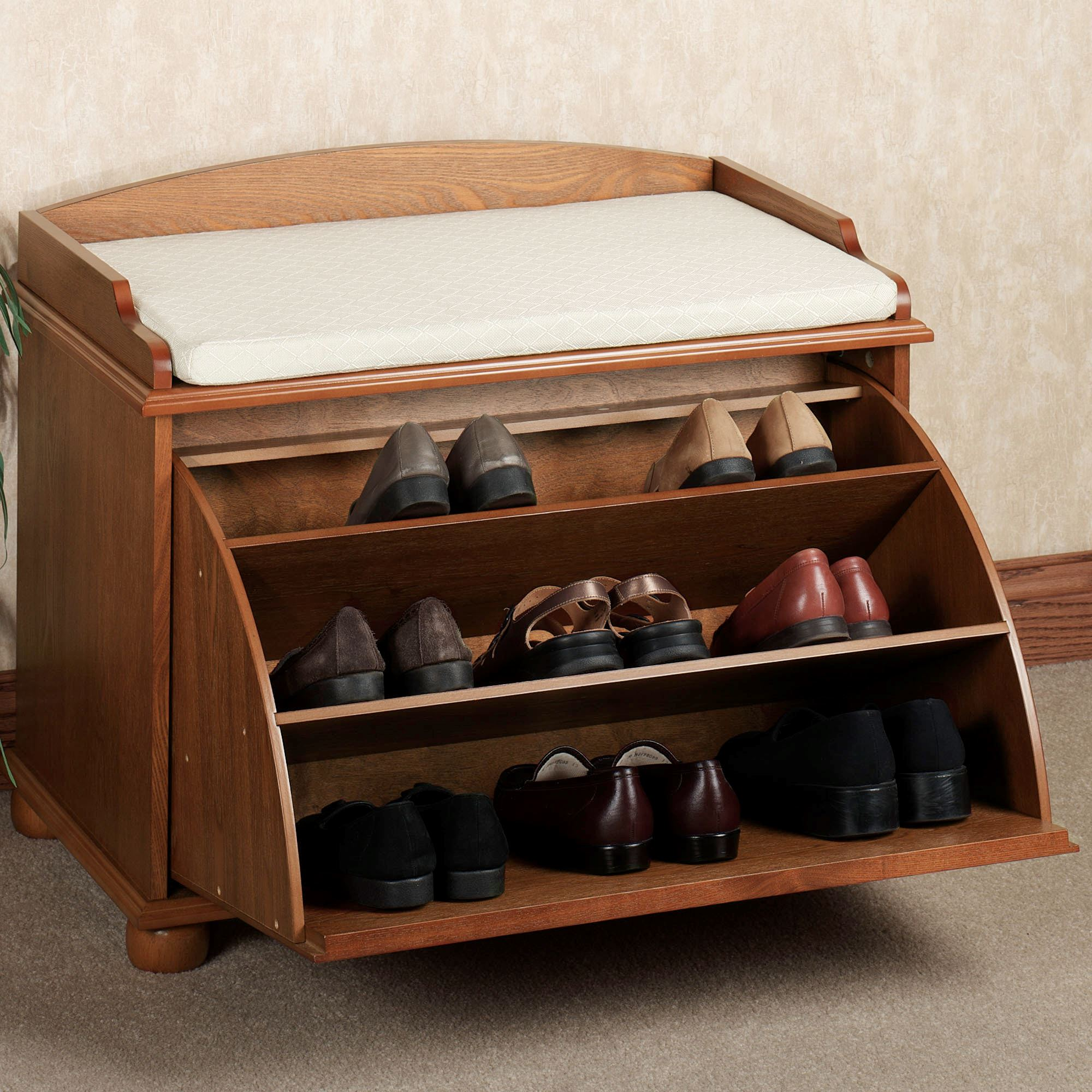 Ayden Shoe Storage Bench. Touch to zoom & Ayden Shoe Storage Bench