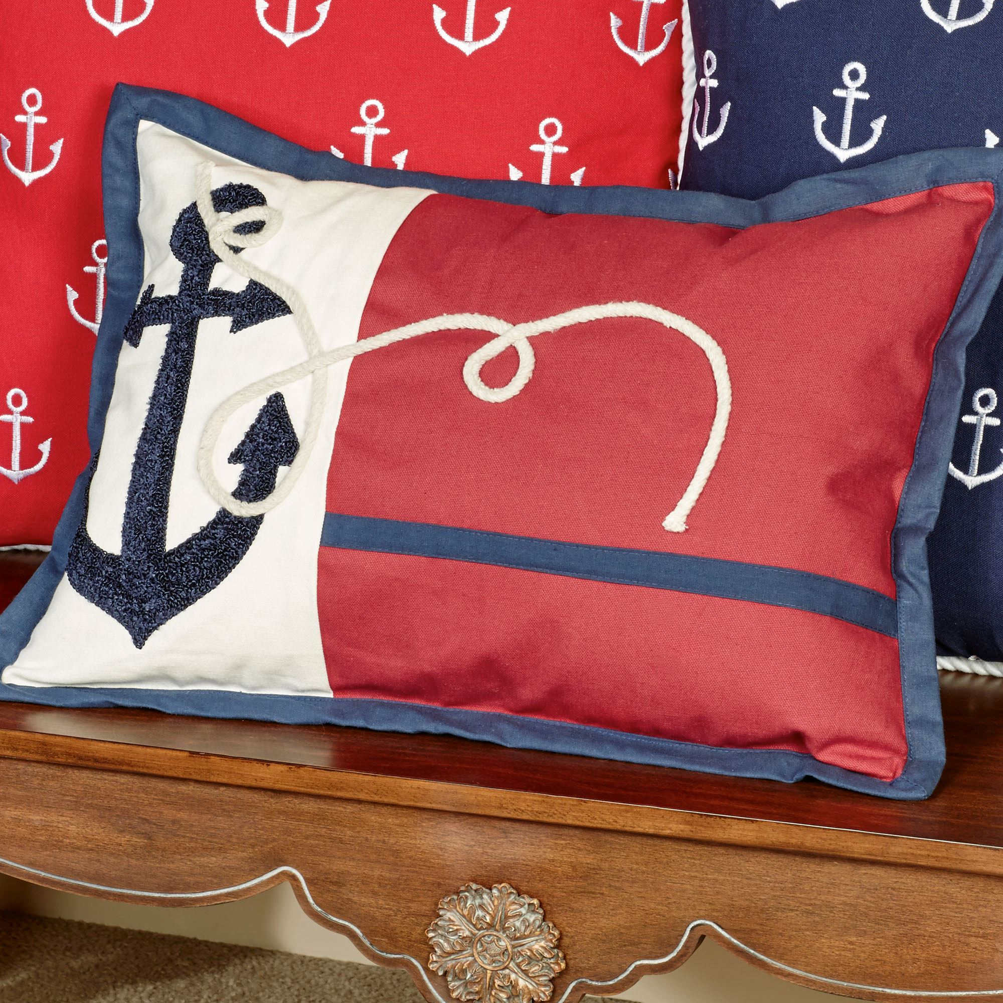 and red nautical blue gallery pillows blanket rain cushion products throw pillow