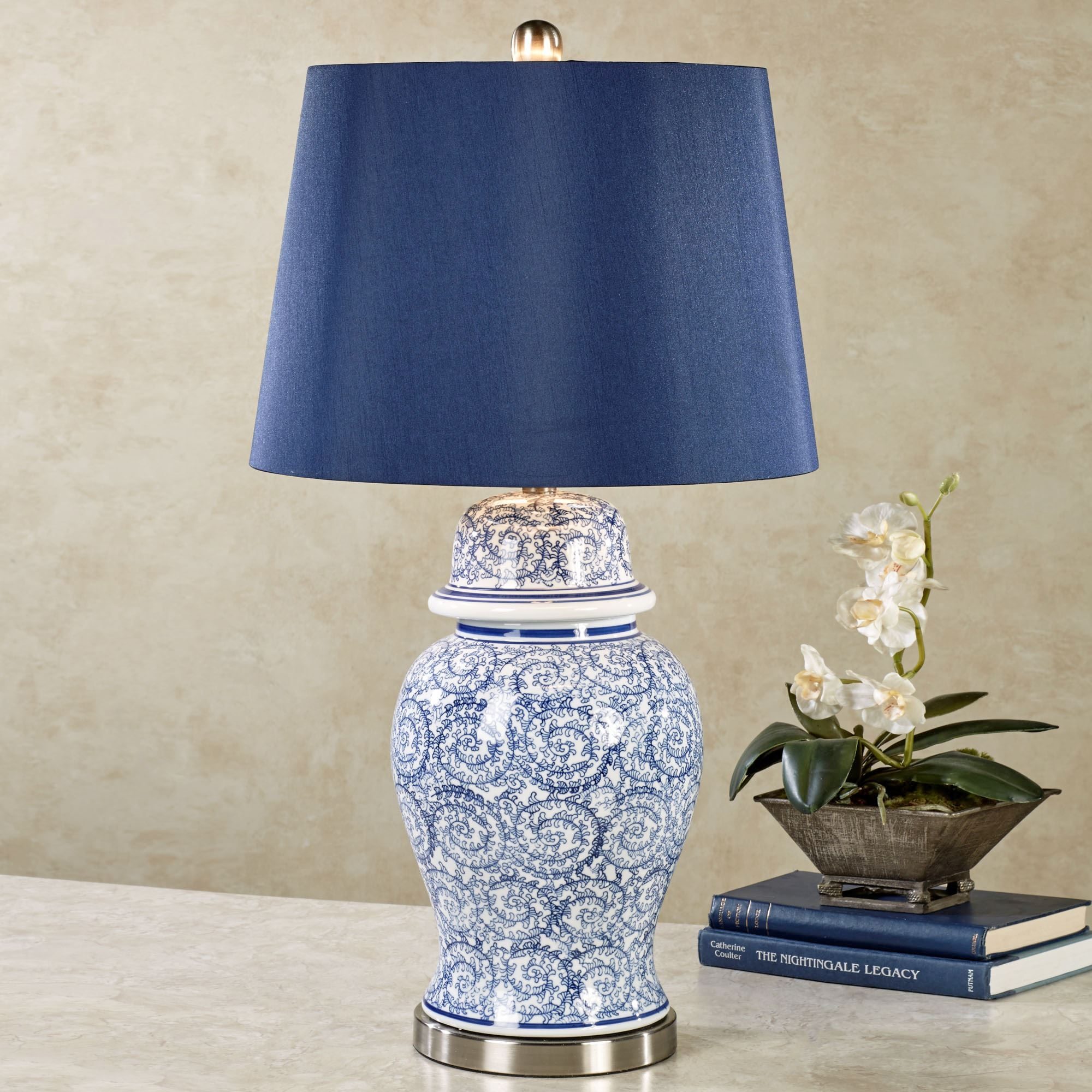 Shyama Blue Ceramic Table Lamp